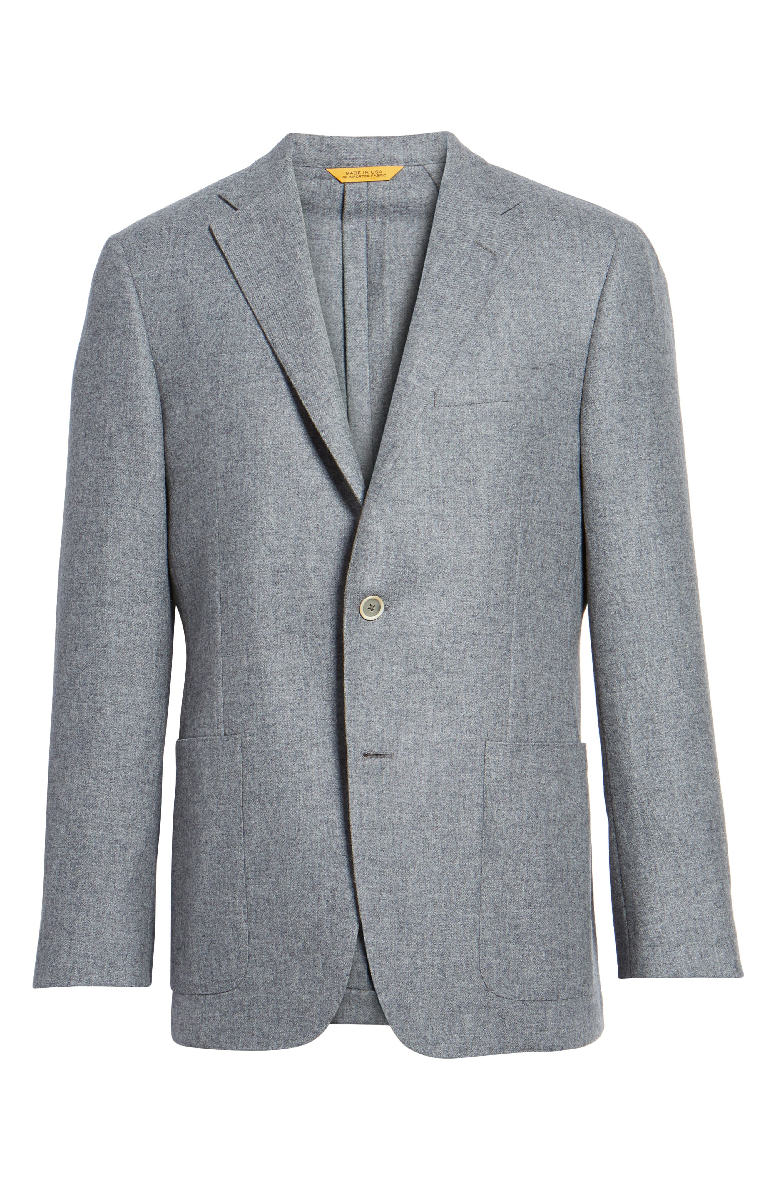 Classic B Fit Wool & Cashmere Blazer,                             Alternate thumbnail 5, color,                             050
