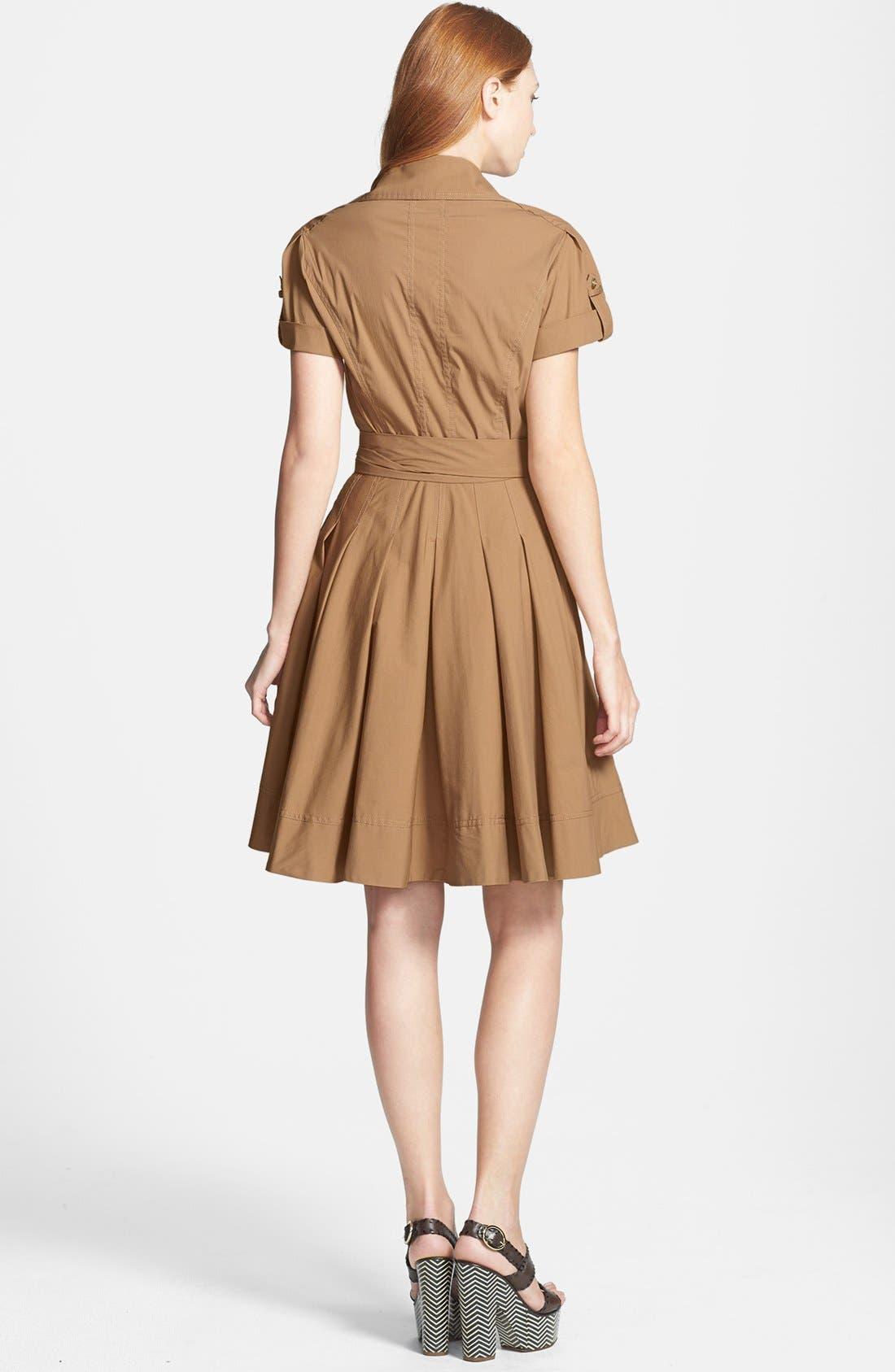 'Kaley' Pleated Cotton Blend Wrap Dress,                             Alternate thumbnail 2, color,                             250