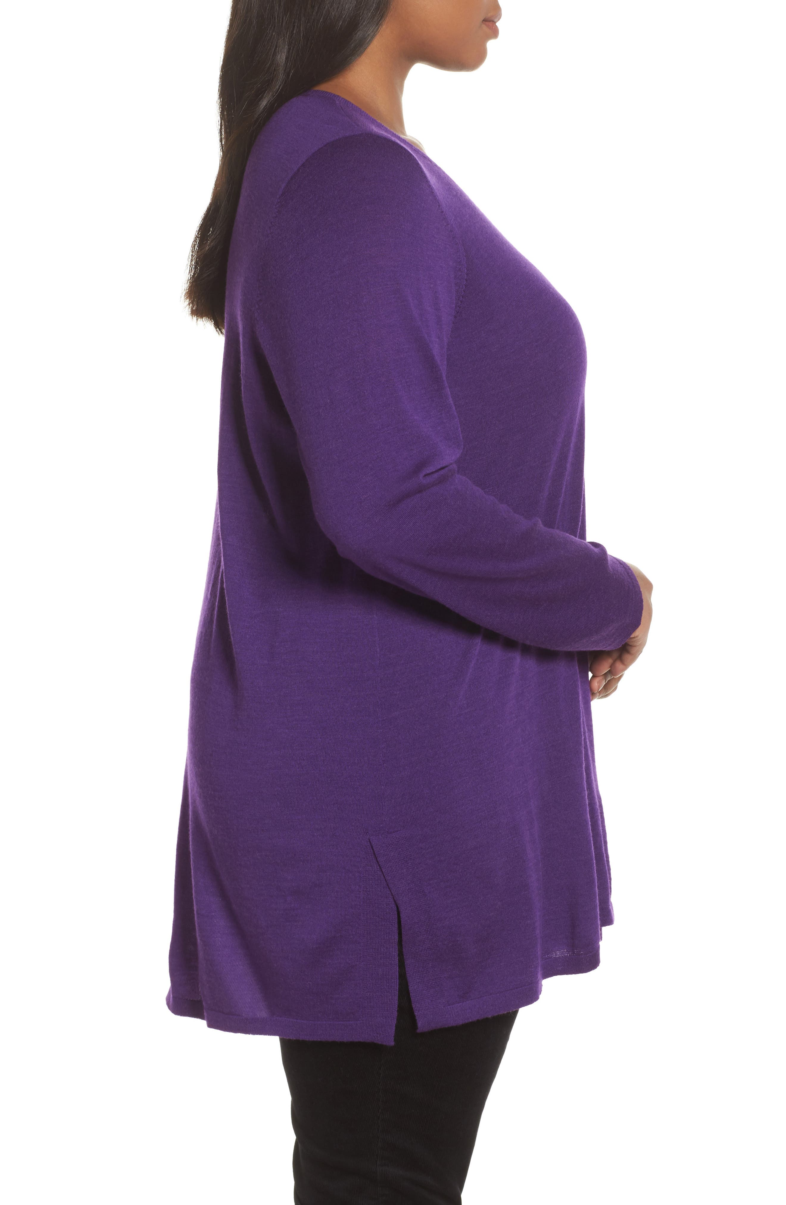 Merino Wool Tunic Sweater,                             Alternate thumbnail 14, color,