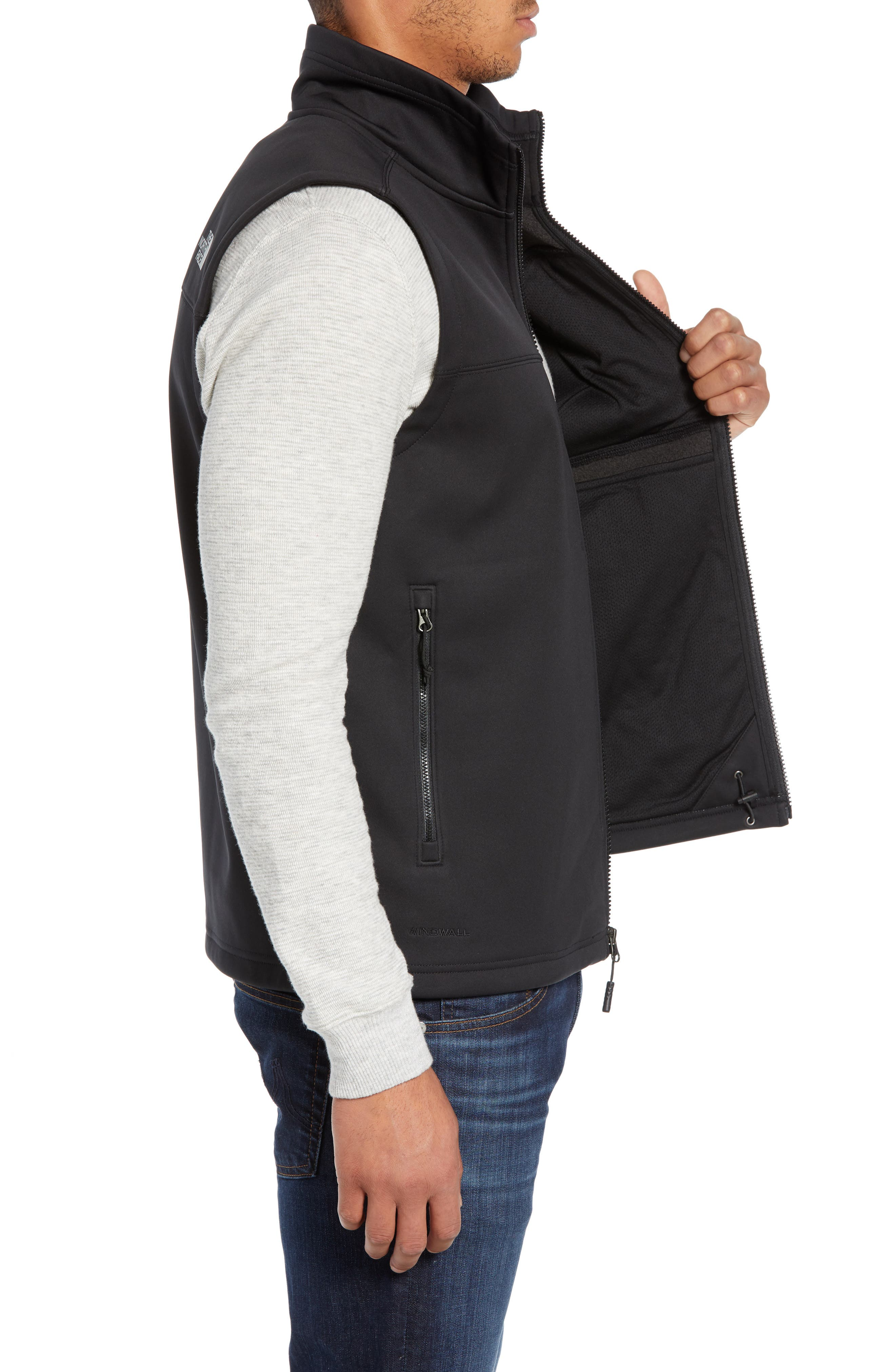 Apex Risor Vest,                             Alternate thumbnail 3, color,                             TNF BLACK/ TNF BLACK