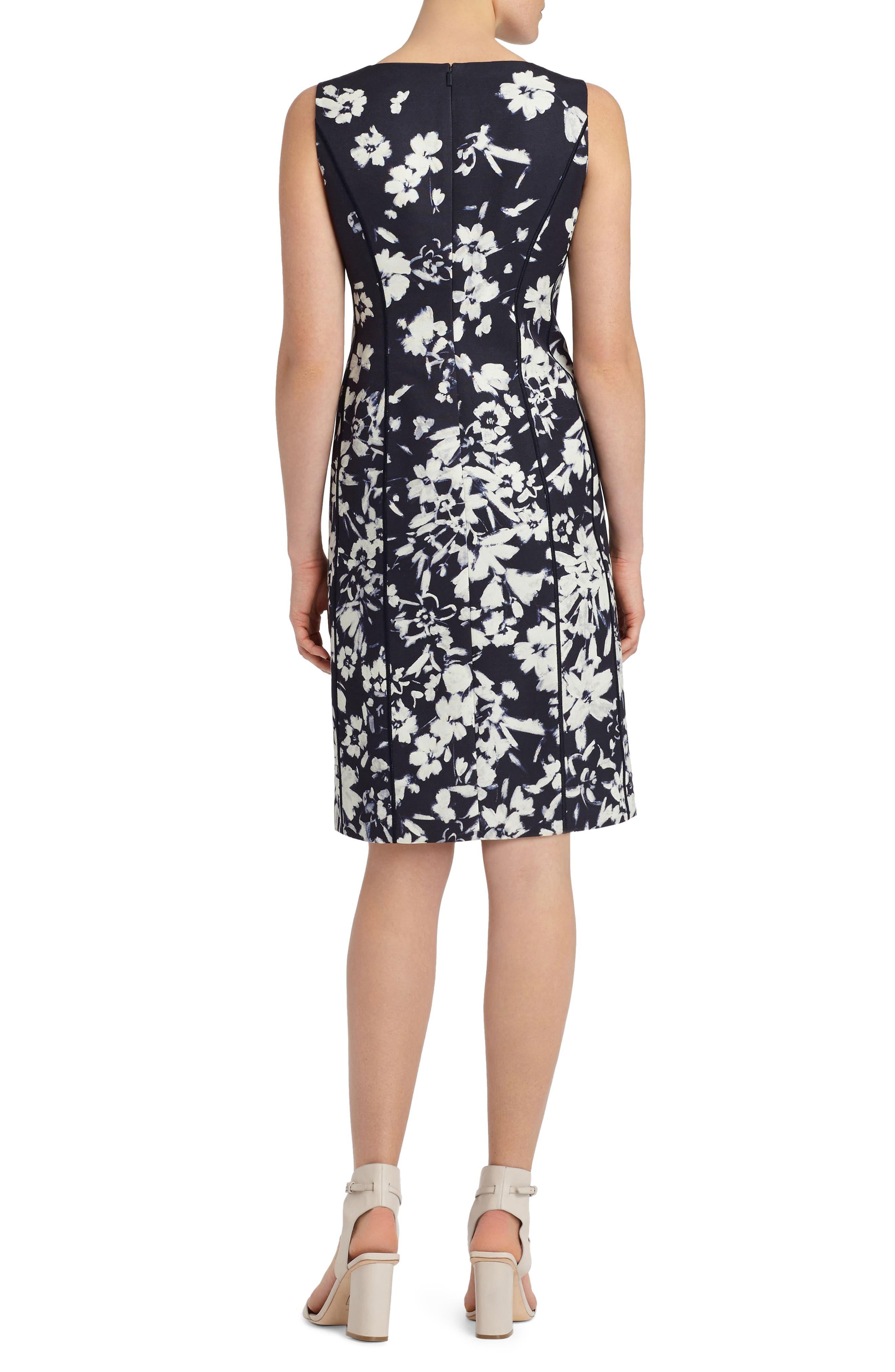 Evelyn Print Sheath Dress,                             Alternate thumbnail 2, color,                             438