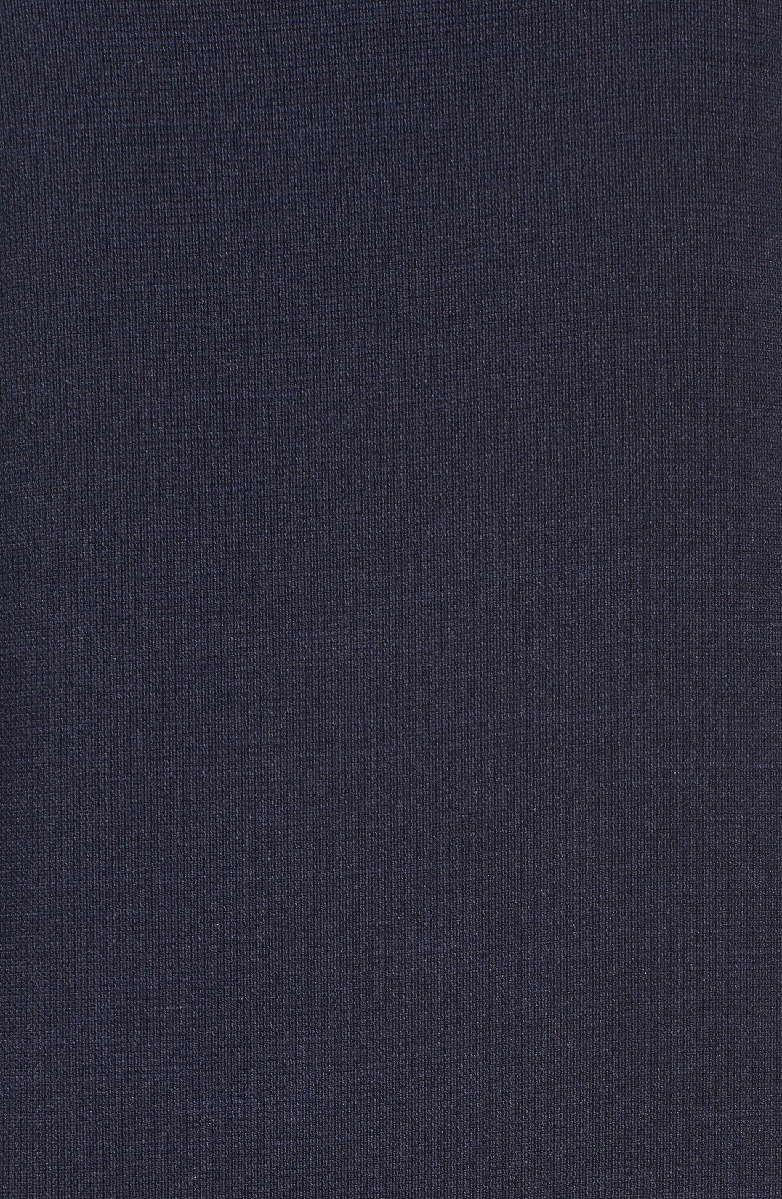 Lace Appliqué Crepe Cold Shoulder Dress,                             Alternate thumbnail 7, color,                             410