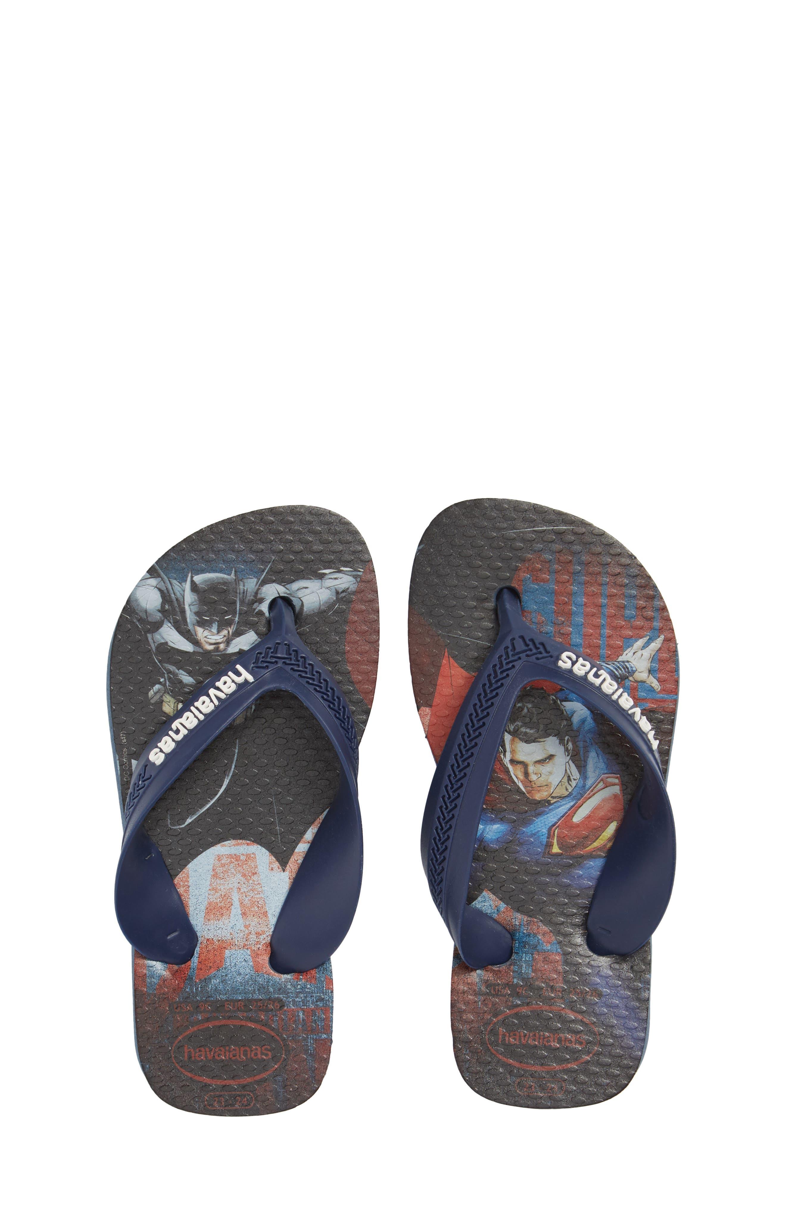 'Batman<sup>™</sup> - Max Heroes' Flip Flop,                         Main,                         color, 403