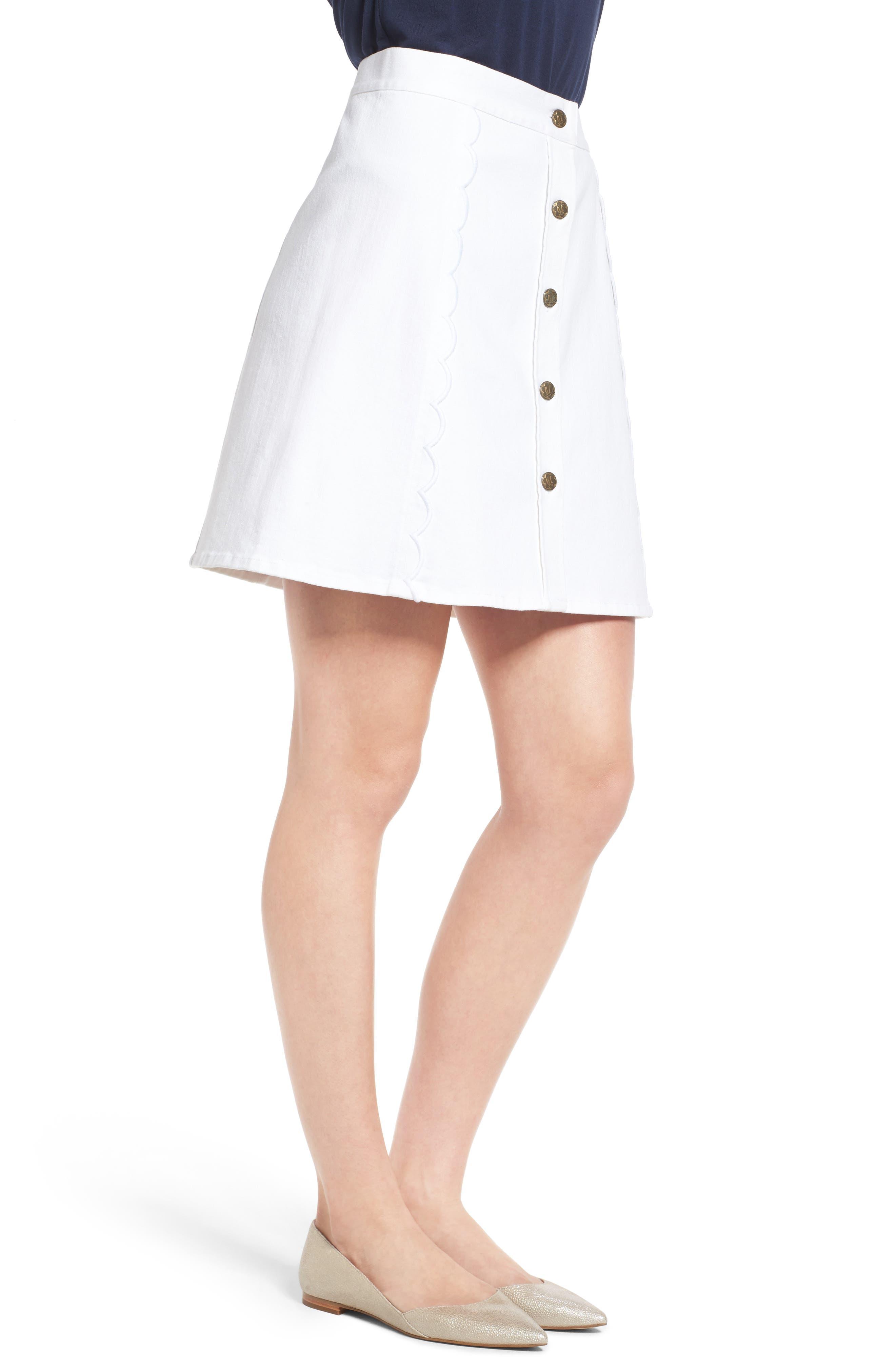 Stretch Denim Miniskirt,                             Alternate thumbnail 3, color,                             106