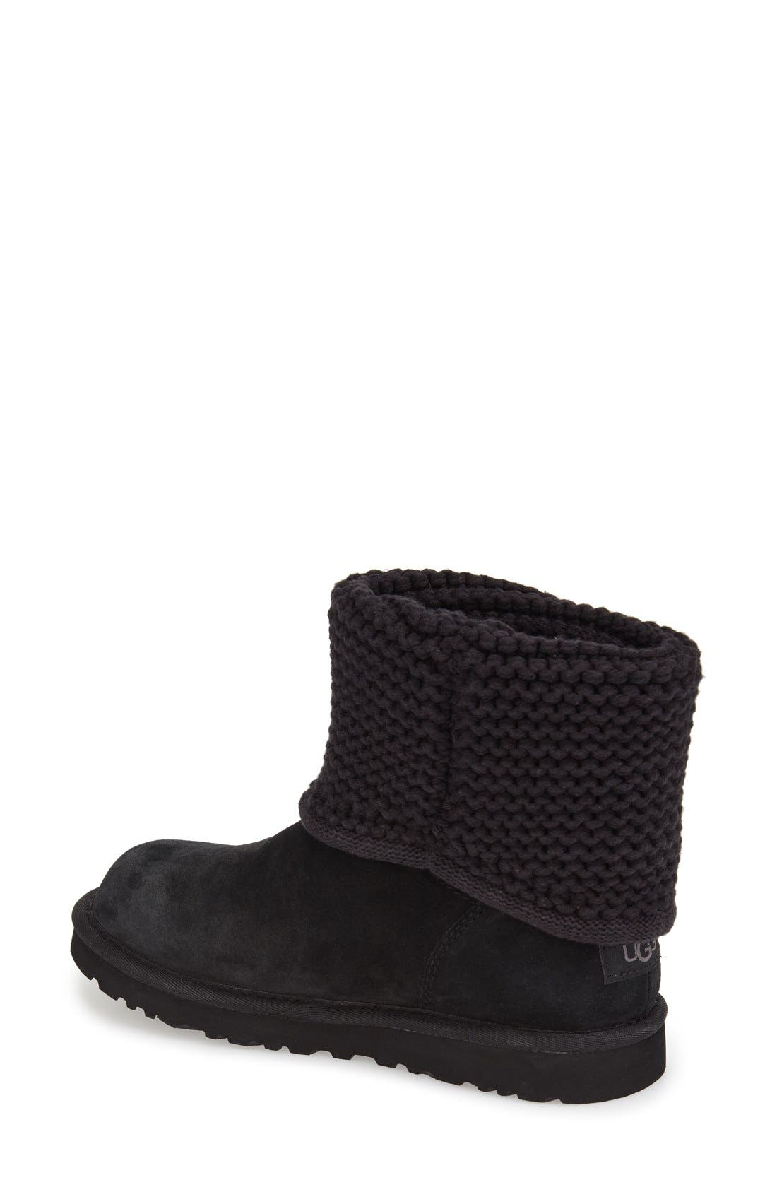Shaina Knit Cuff Bootie,                             Alternate thumbnail 5, color,
