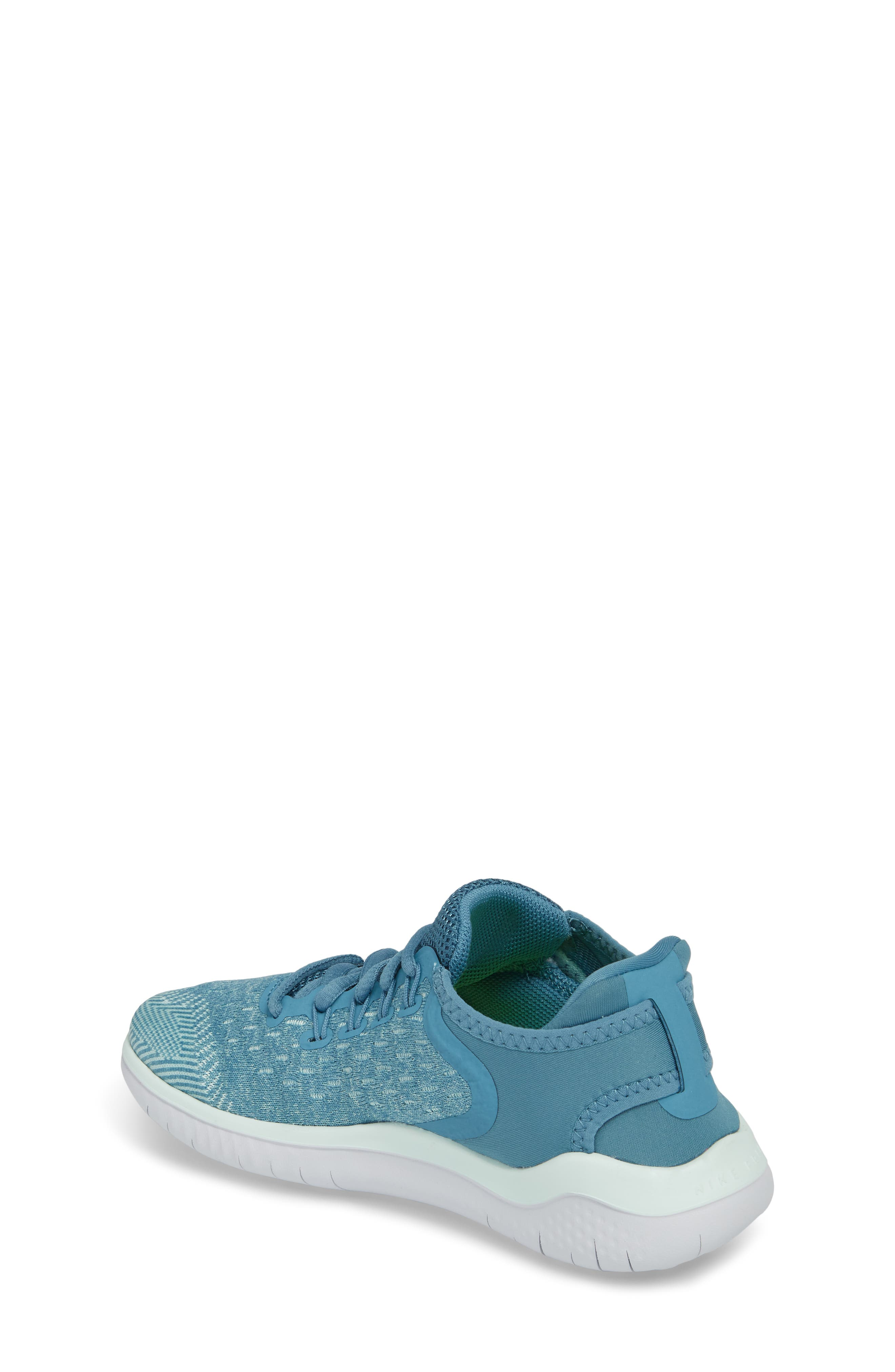 Free RN 2018 Running Shoe,                             Alternate thumbnail 2, color,                             AQUA/ WHITE/ PURE PLATINUM