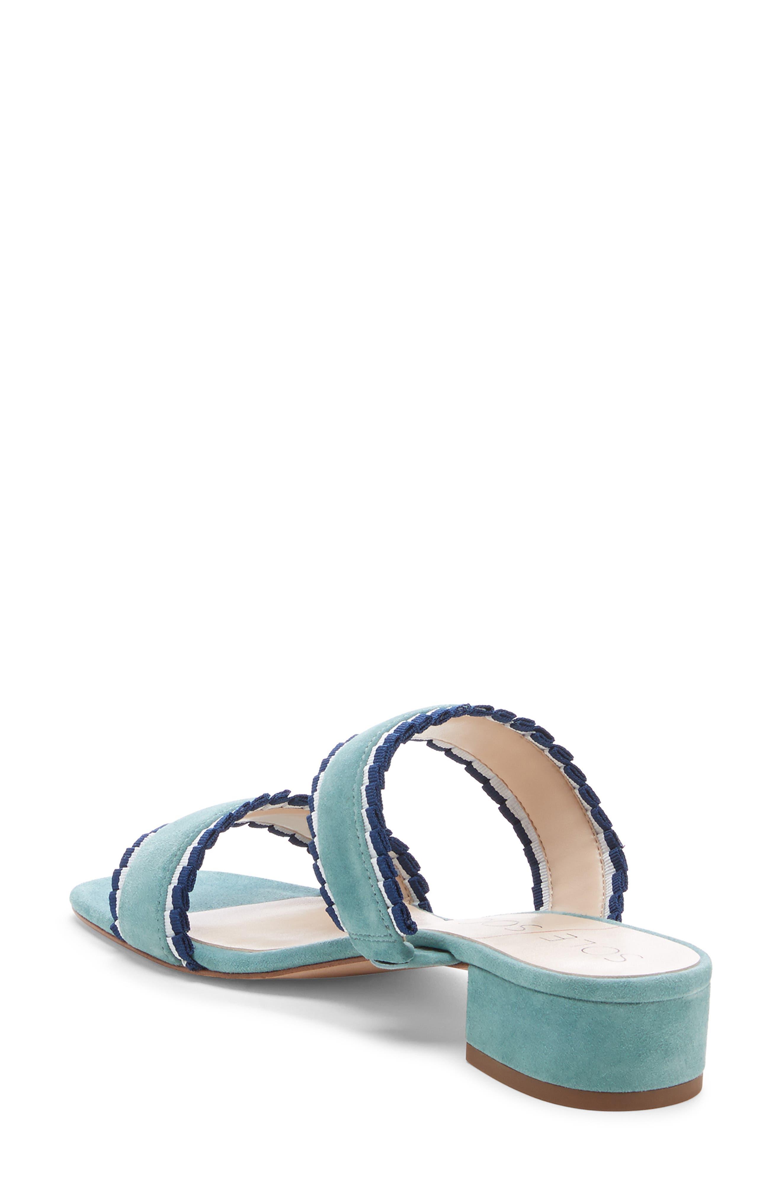 SOLE SOCIETY,                             Elura Slide Sandal,                             Alternate thumbnail 2, color,                             LIGHT SEA GREEN SUEDE