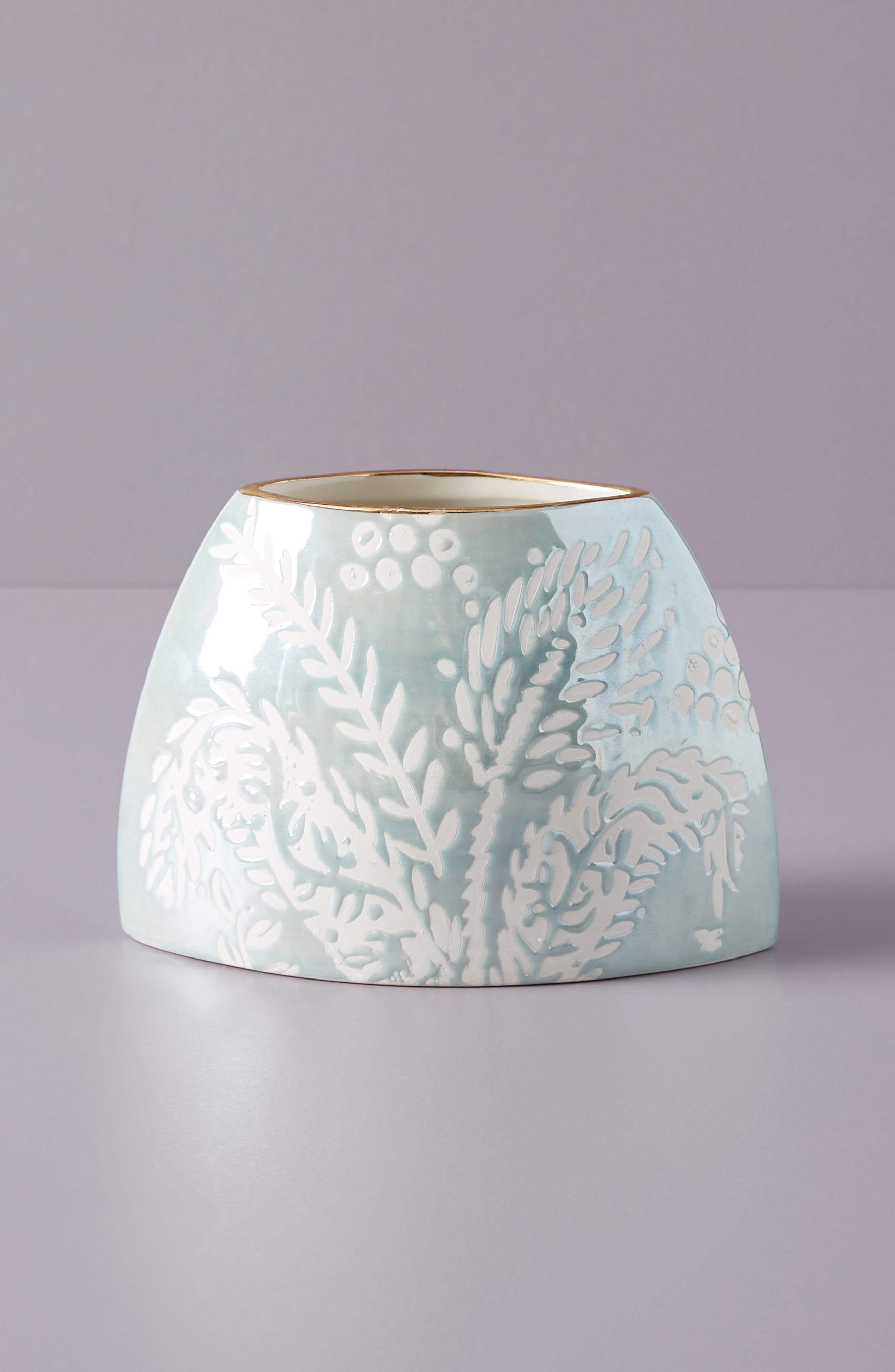 ANTHROPOLOGIE Holly Vase, Main, color, BLUE