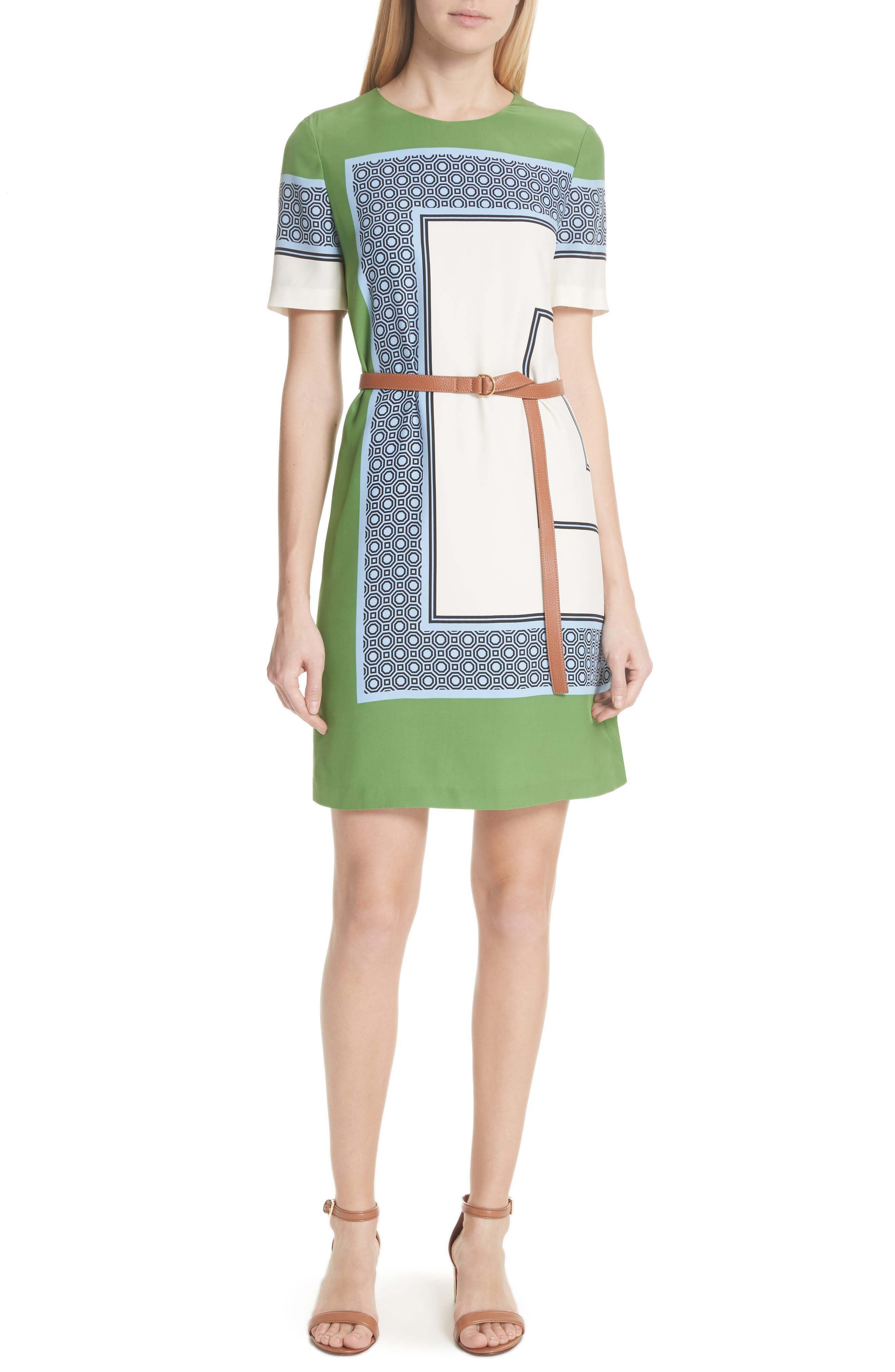 Mallory Silk Dress,                             Alternate thumbnail 5, color,                             410