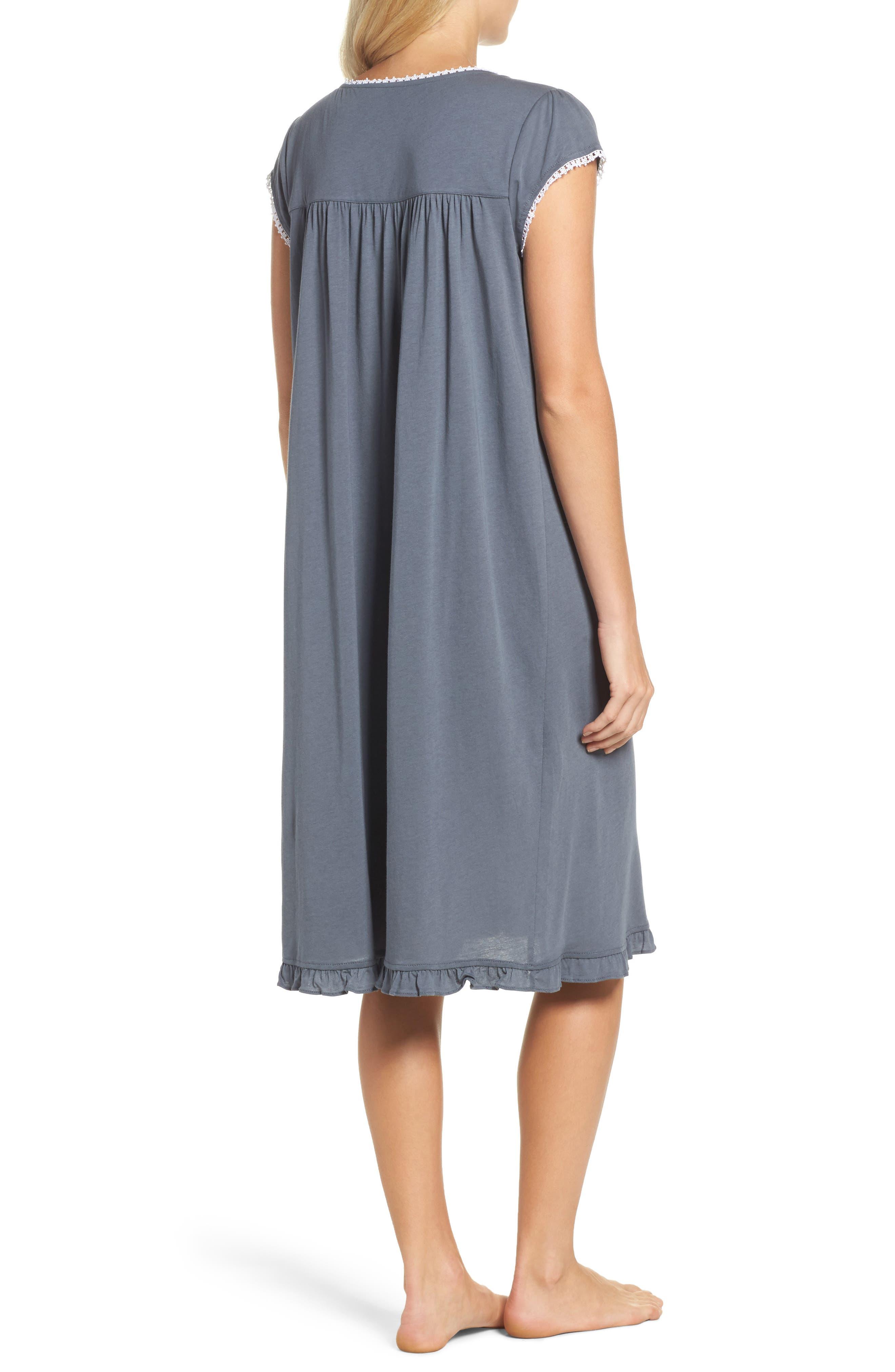 Cotton & Modal Waltz Nightgown,                             Alternate thumbnail 2, color,                             001