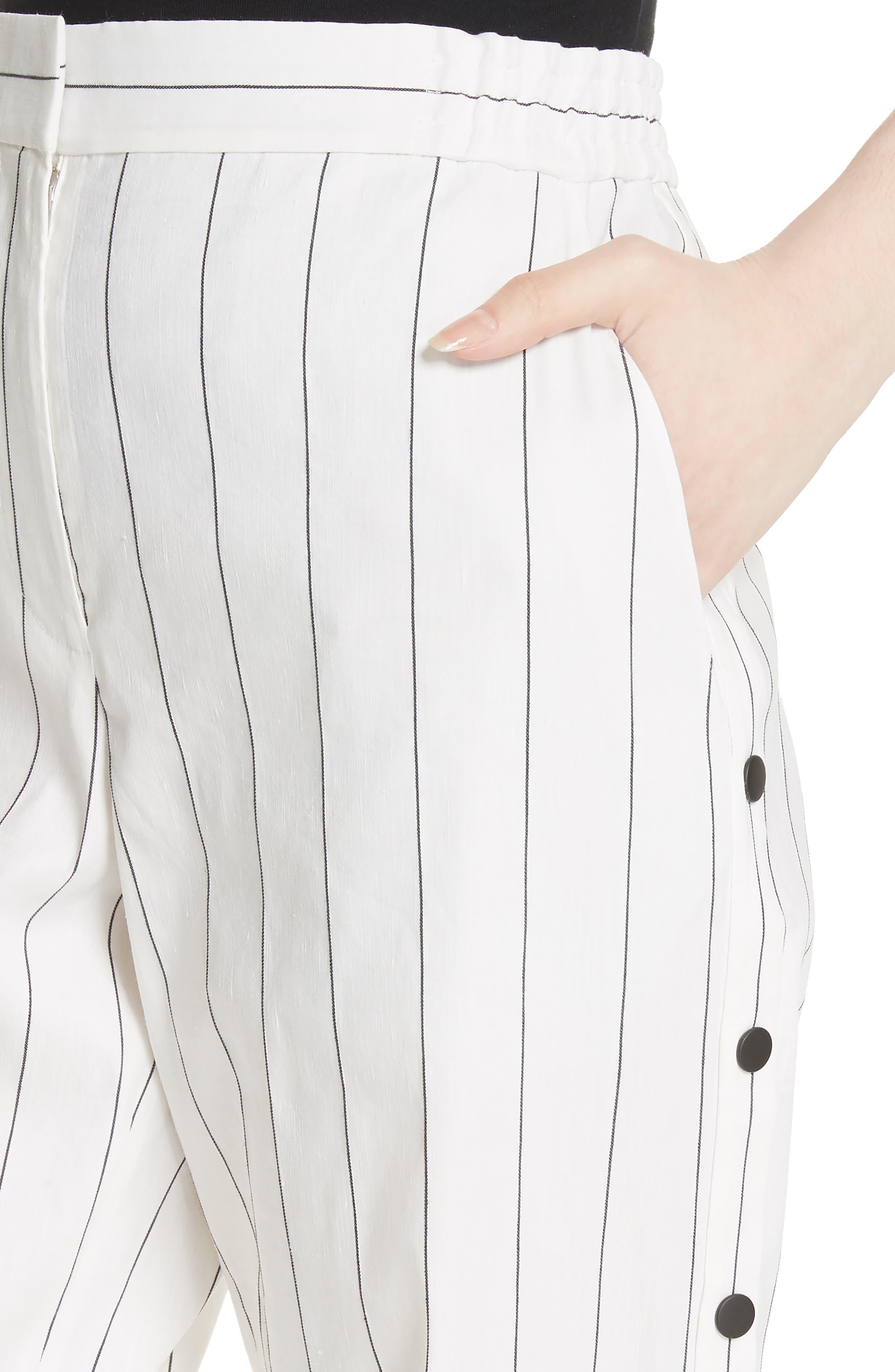 Snap Side Stripe Pants,                             Alternate thumbnail 4, color,                             907