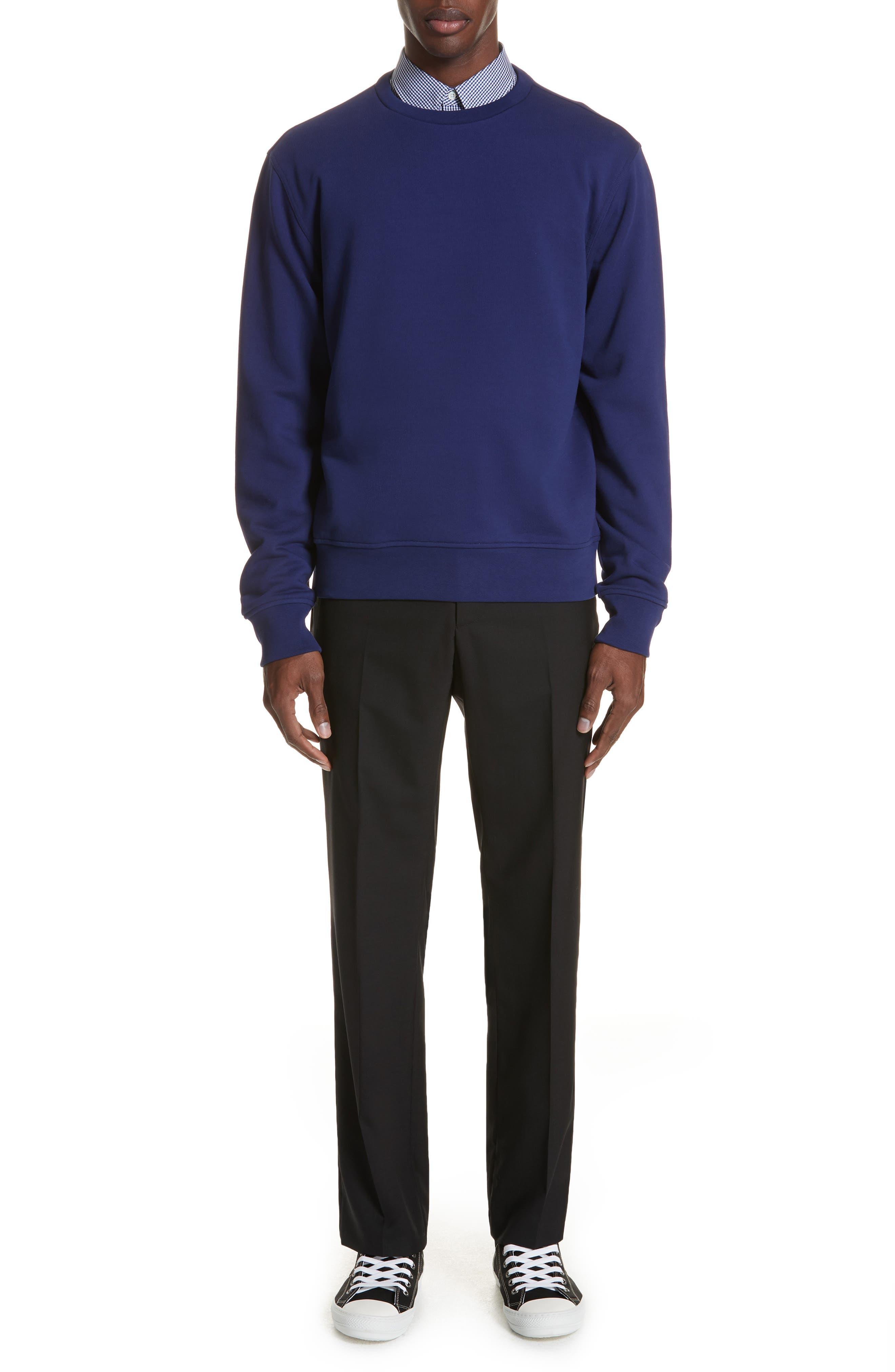 Gingham Woven Sport Shirt,                             Alternate thumbnail 7, color,                             BLUE