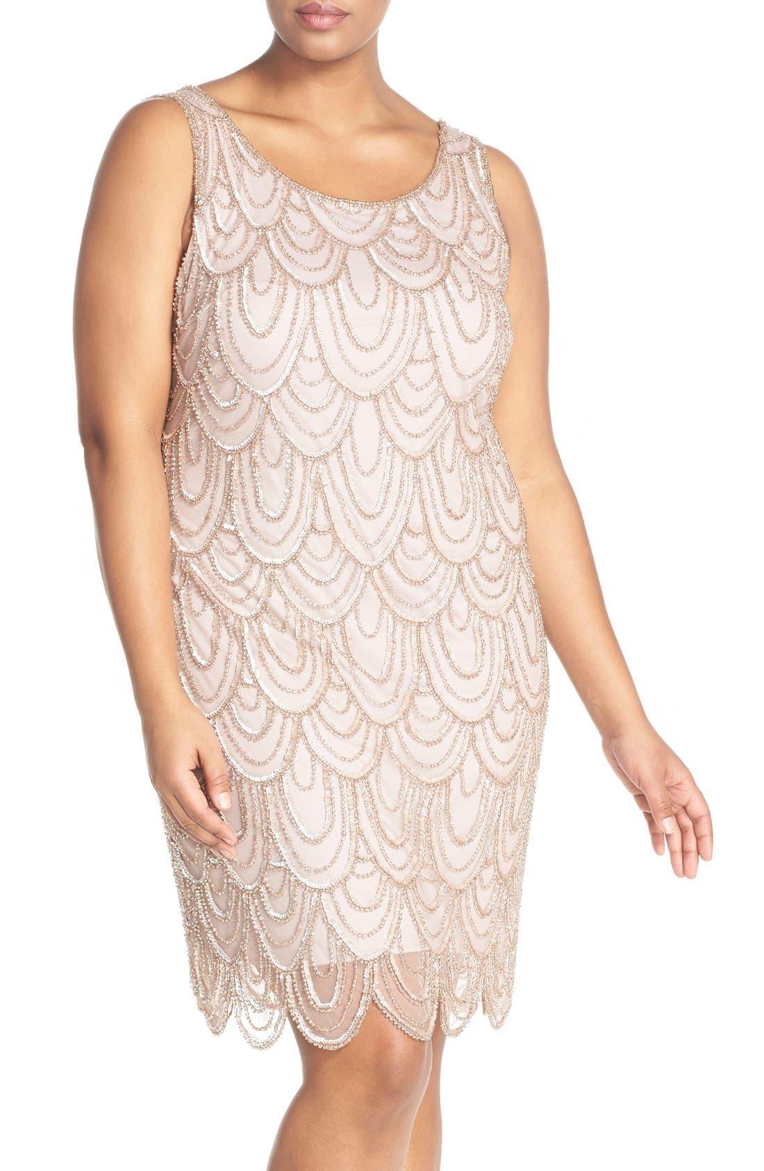 Beaded Sheath Dress,                             Main thumbnail 9, color,