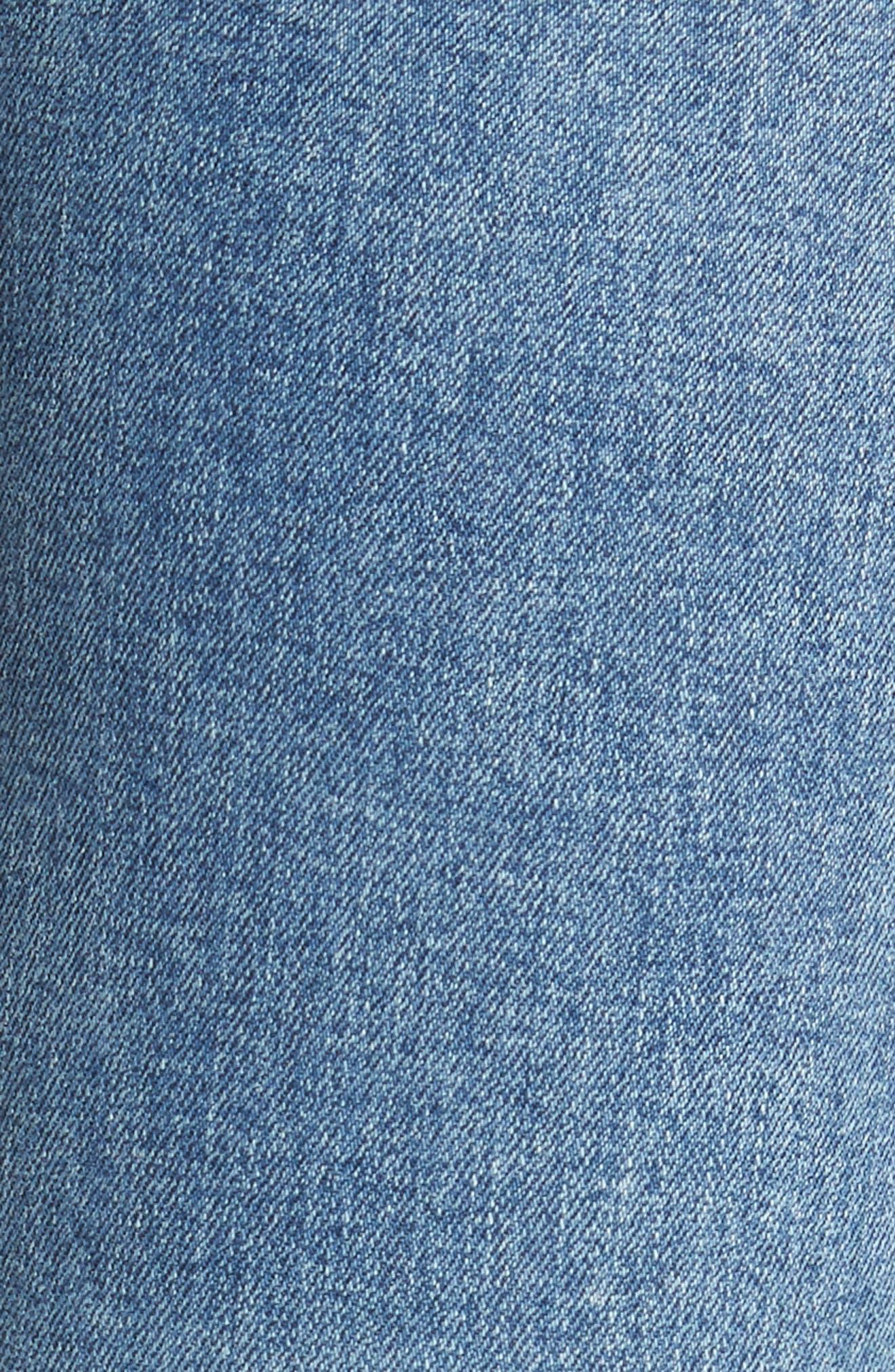 Rocket High Waist Crop Skinny Jeans,                             Alternate thumbnail 6, color,                             457