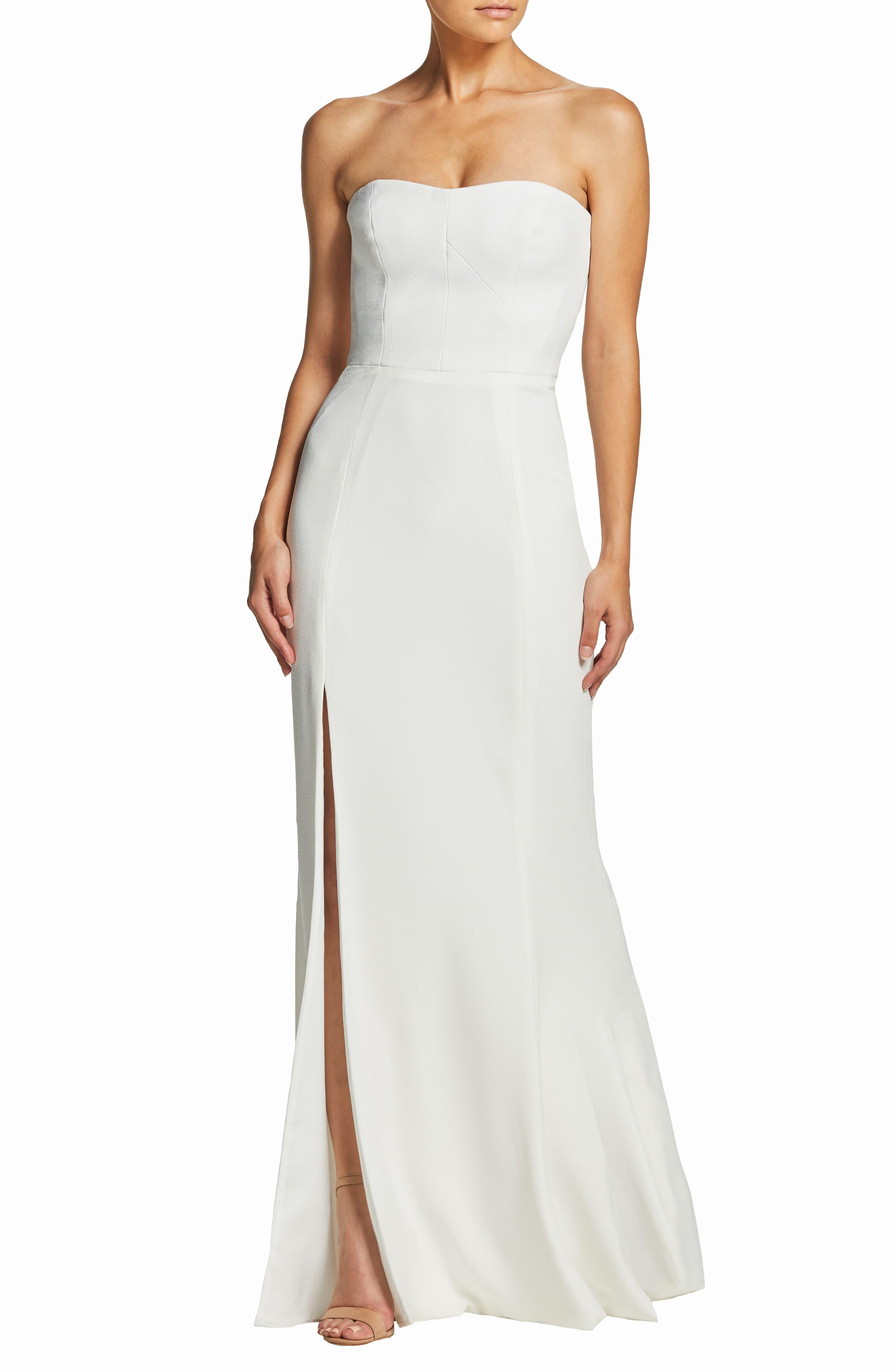 Dress The Population Ellen Strapless Gown, Ivory