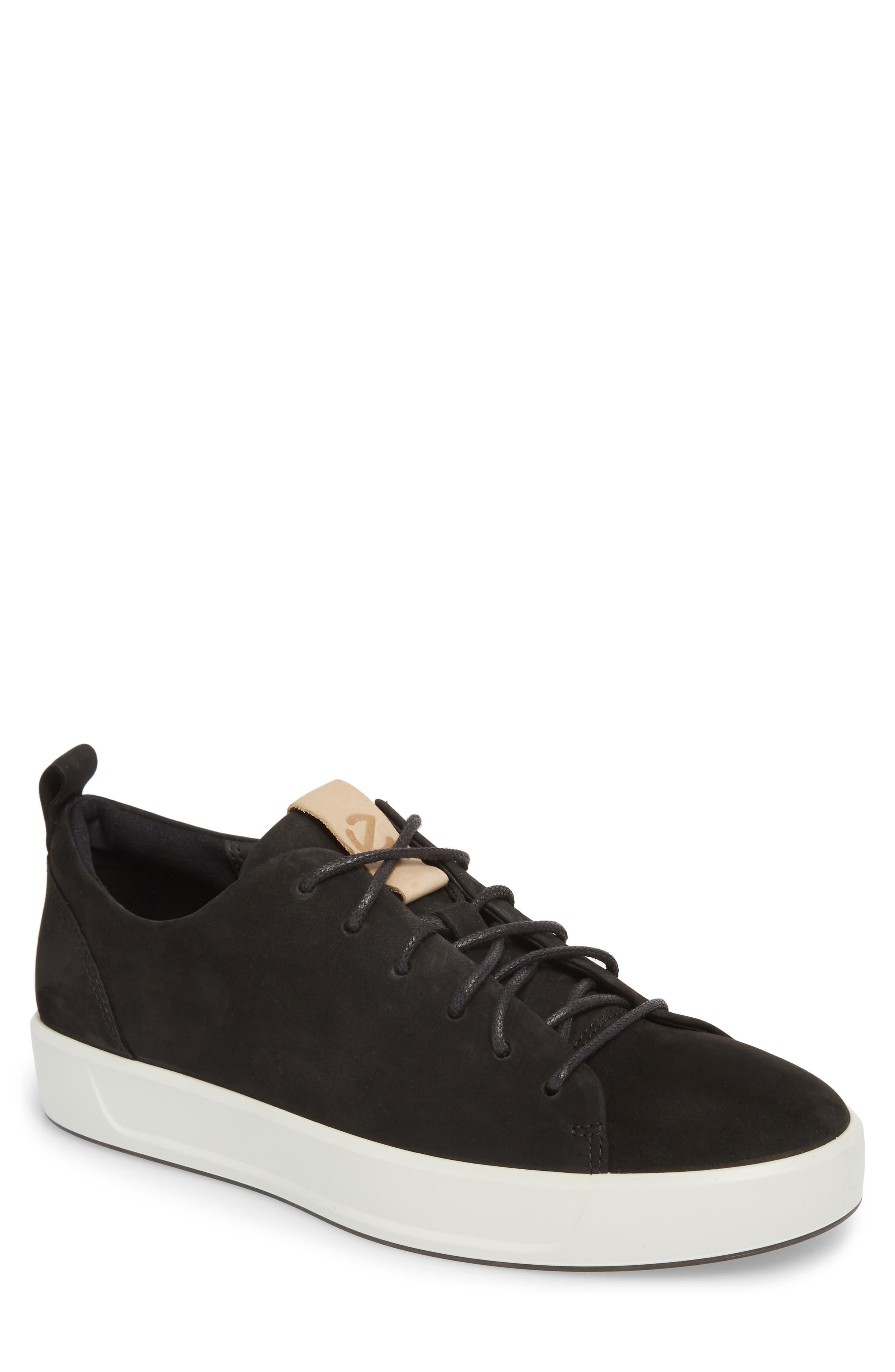 Soft 8 Sneaker,                         Main,                         color, BLACK POWDER LEATHER