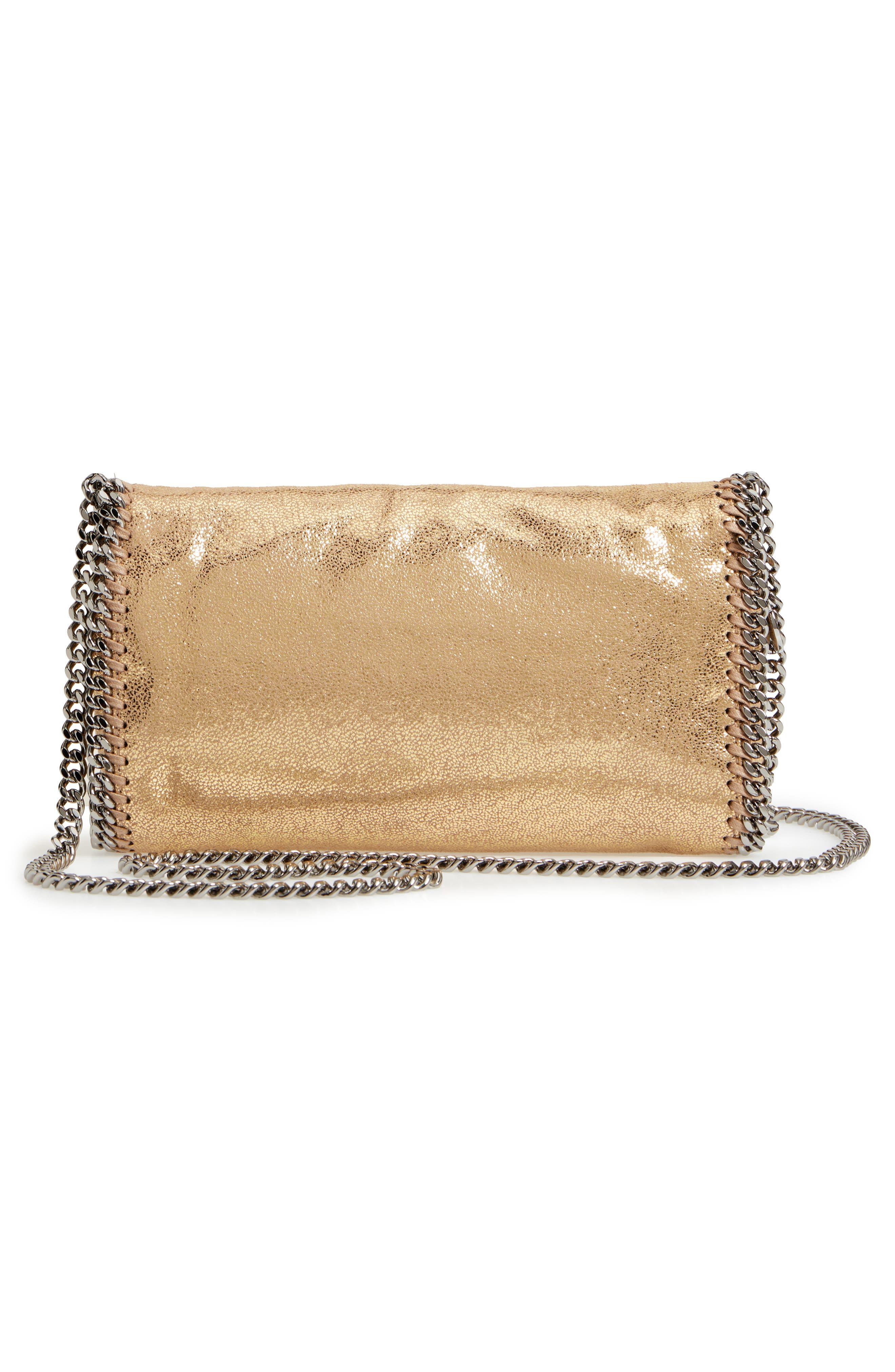'Falabella' Crossbody Bag,                             Alternate thumbnail 3, color,                             GOLD