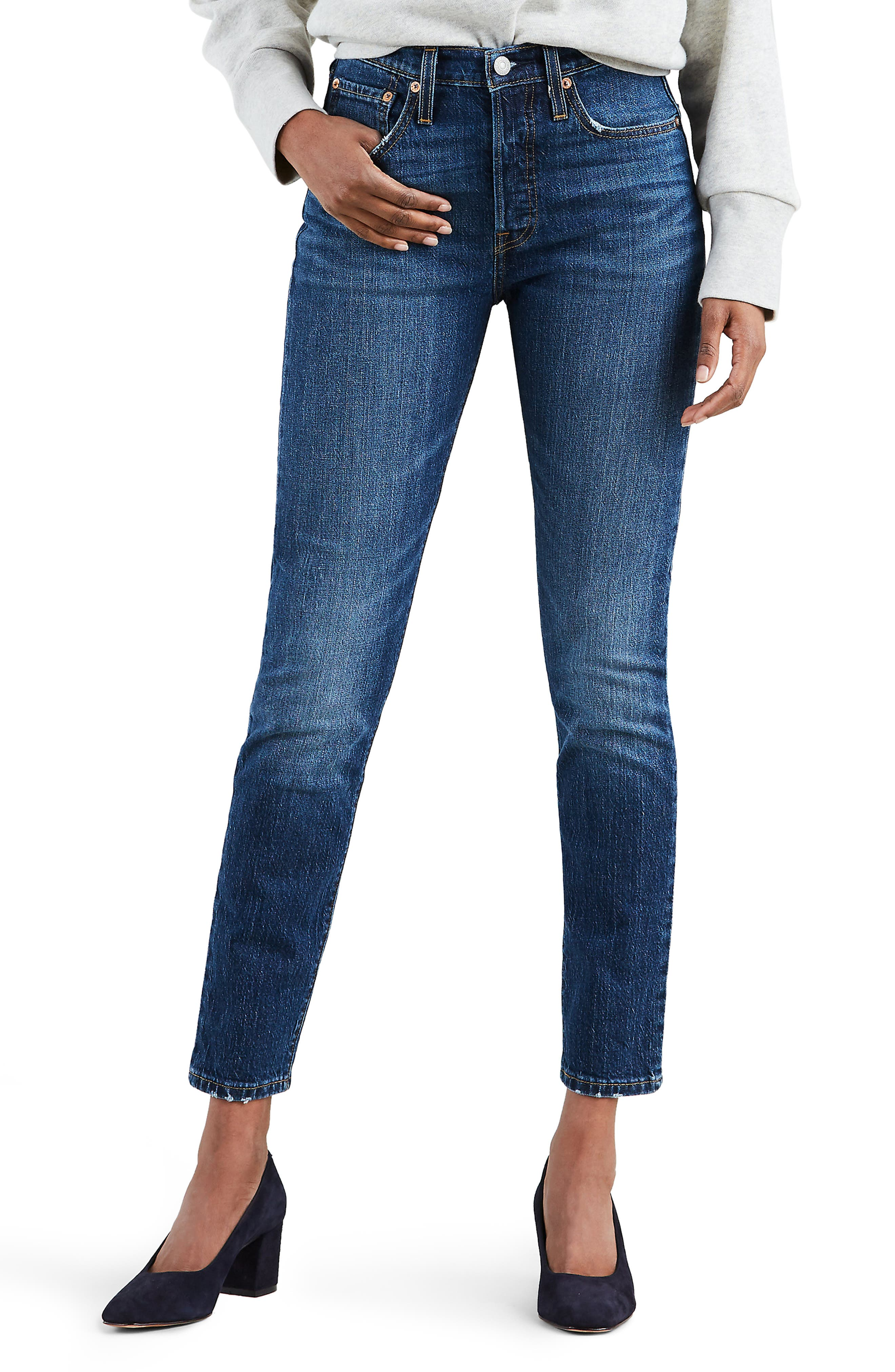 501<sup>®</sup> High Waist Ankle Skinny Jeans,                             Main thumbnail 1, color,                             NEAT FREAK