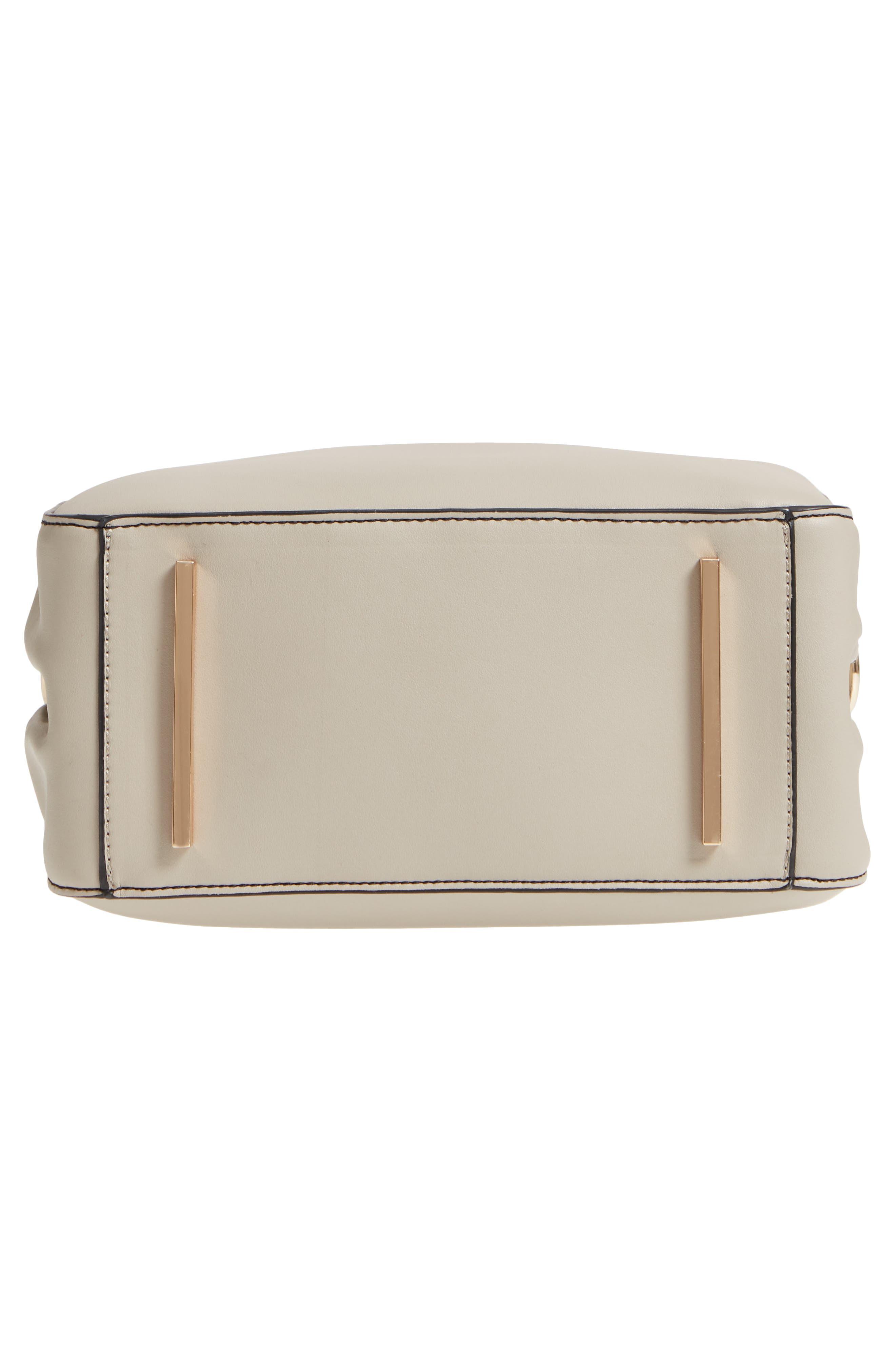 Céline Dion Motif Top Handle Leather Satchel,                             Alternate thumbnail 17, color,