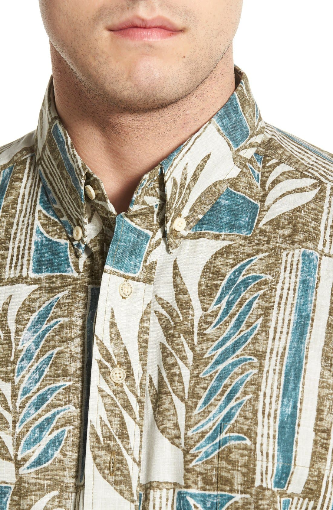 REYN SPOONER,                             'Lau Palaka' Classic Fit Wrinkle Free Pullover Shirt,                             Alternate thumbnail 4, color,                             321