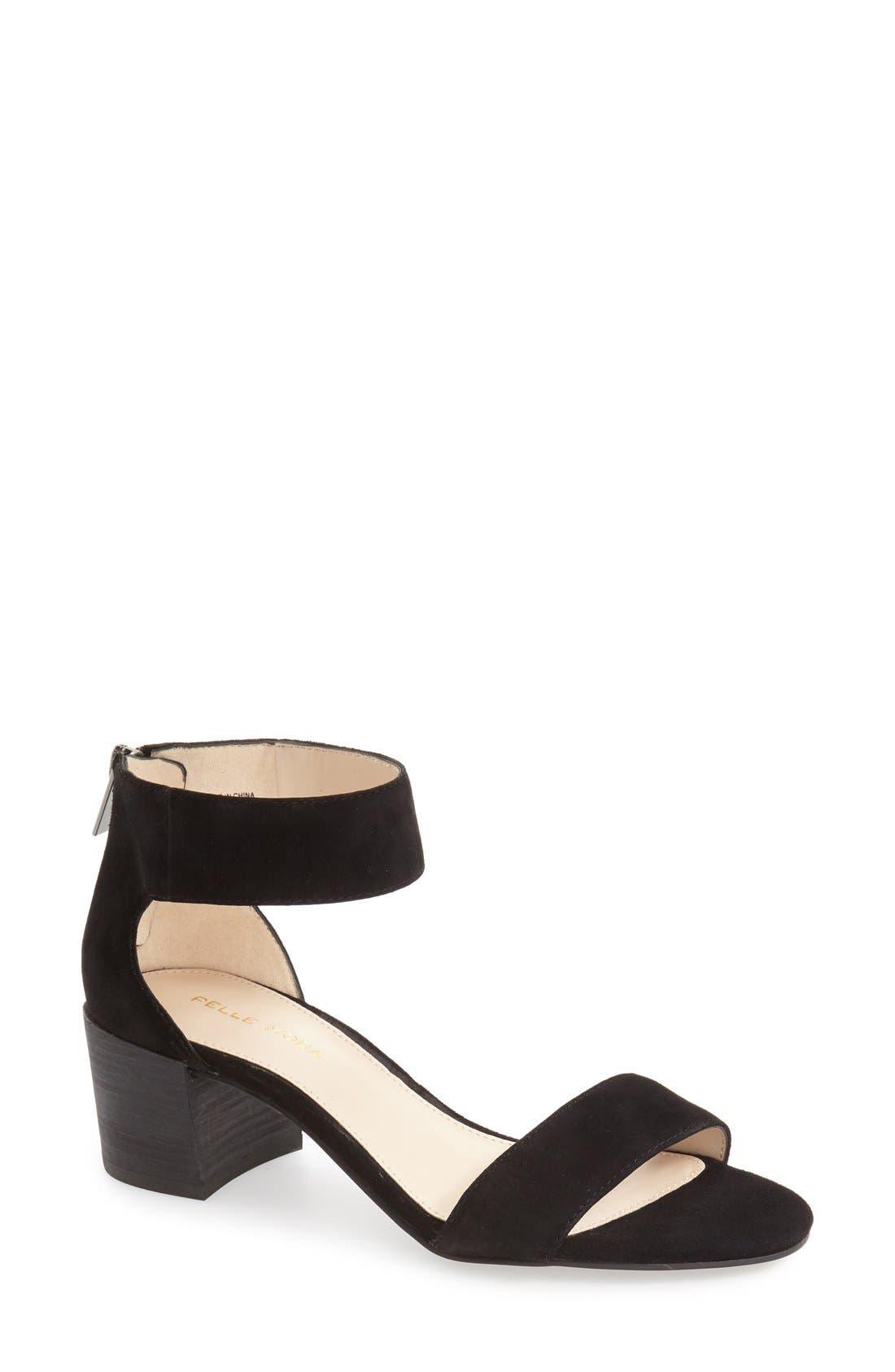 Pella Moda 'Urban' Block Heel Sandal,                             Main thumbnail 1, color,                             001