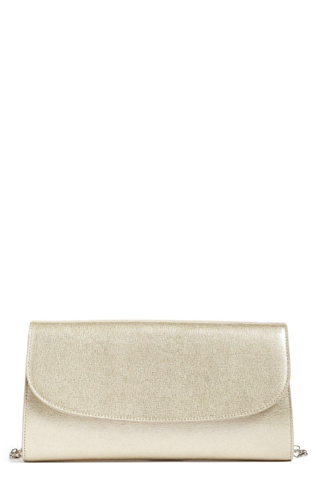 Leather Clutch,                             Main thumbnail 3, color,