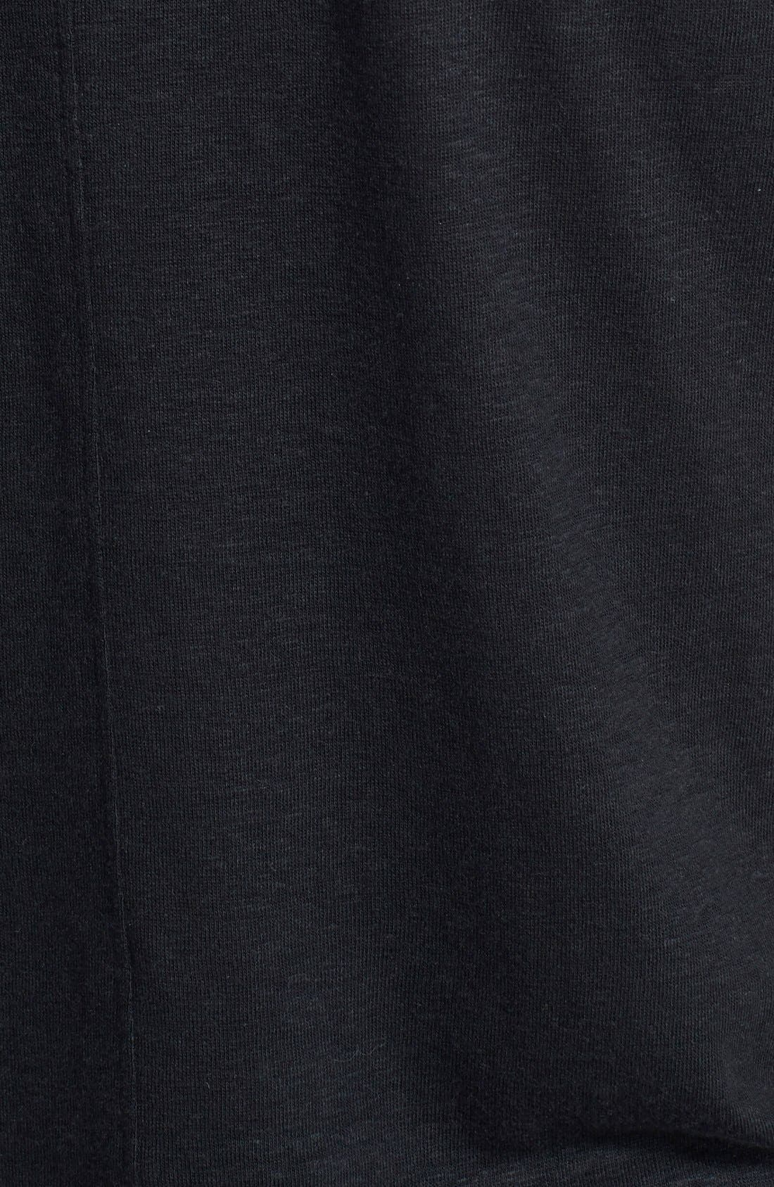 Pintuck V-Neck T-Shirt,                             Alternate thumbnail 2, color,                             001