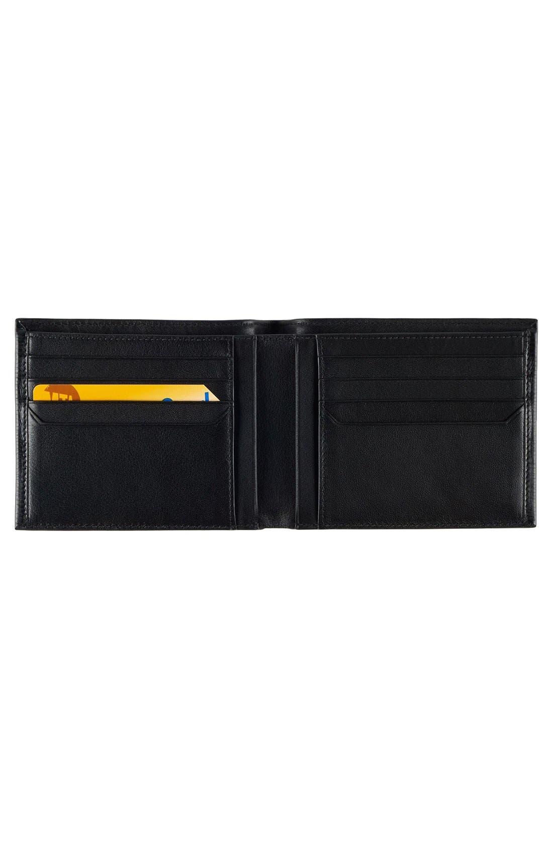 Monaco Global Double Billfold Leather Wallet,                             Alternate thumbnail 2, color,                             001