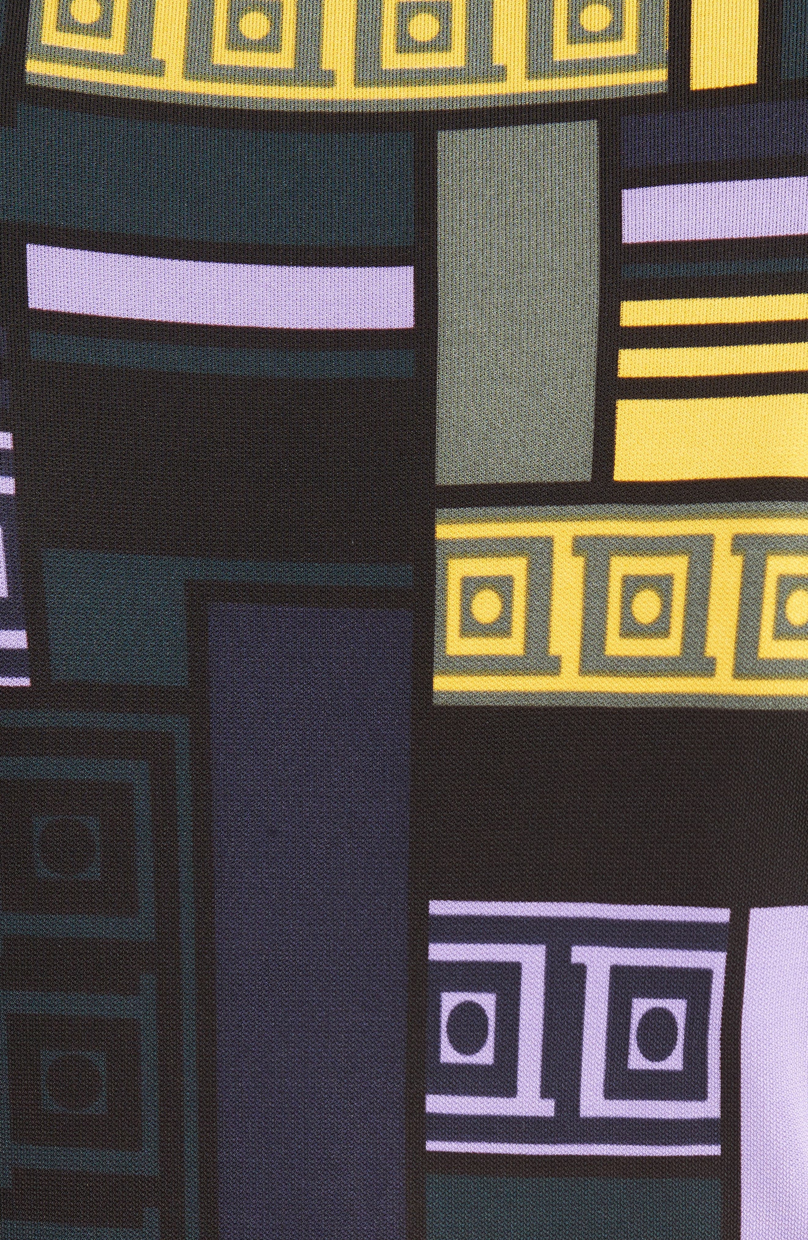 Cold Shoulder Print Jersey Dress,                             Alternate thumbnail 5, color,                             512
