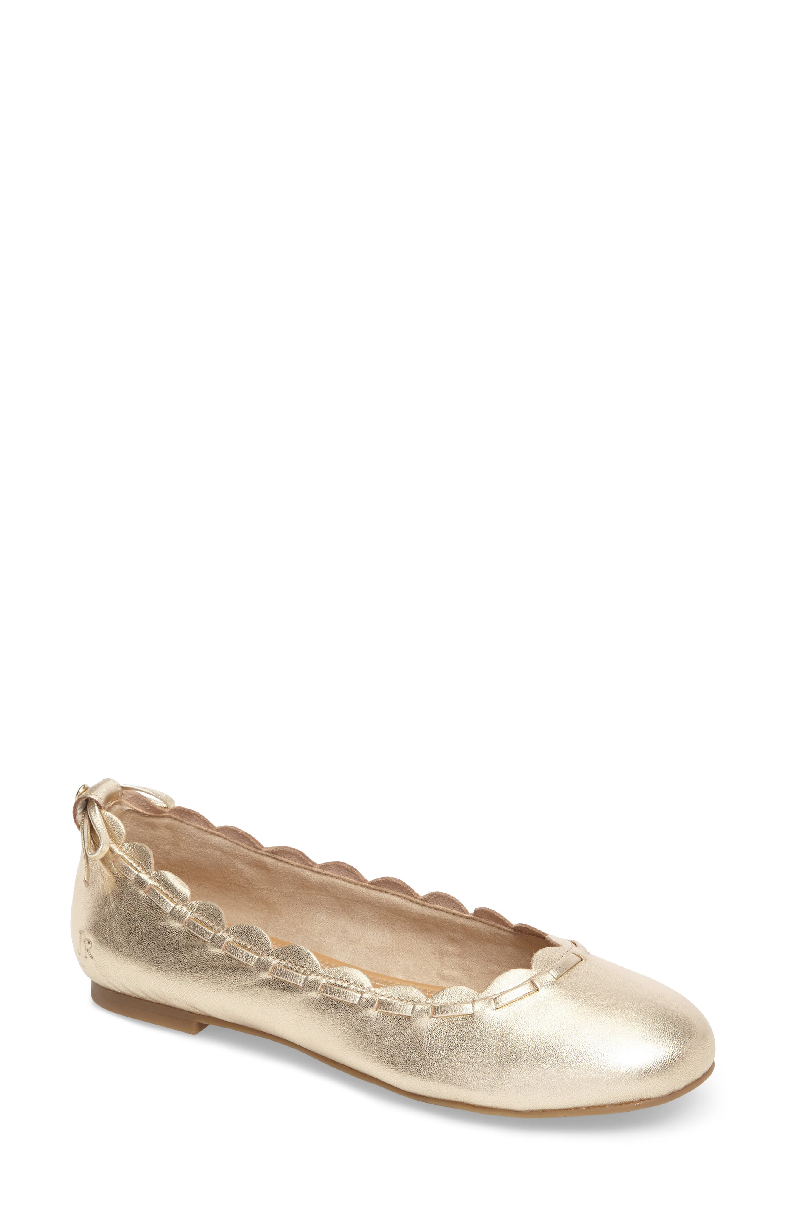 Lucie Scalloped Flat,                         Main,                         color, 040