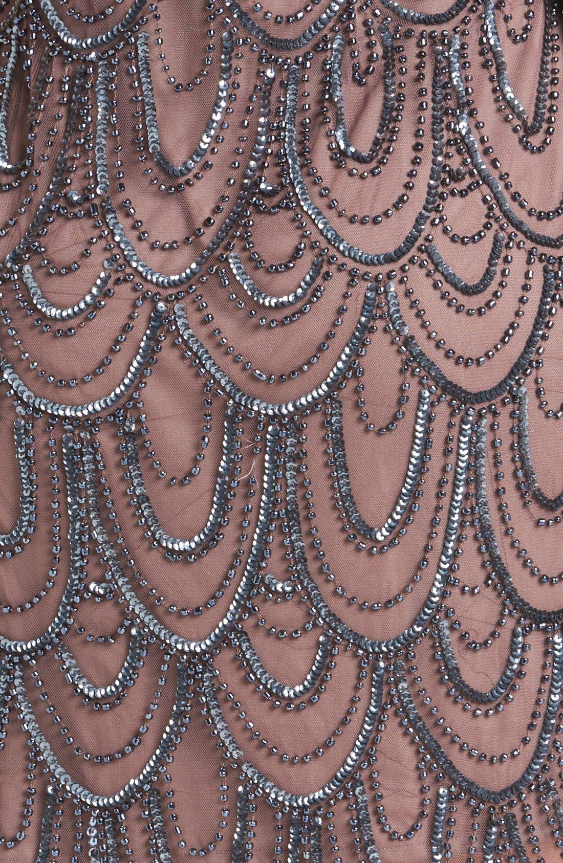 Embellished Mesh Sheath Dress,                             Alternate thumbnail 30, color,