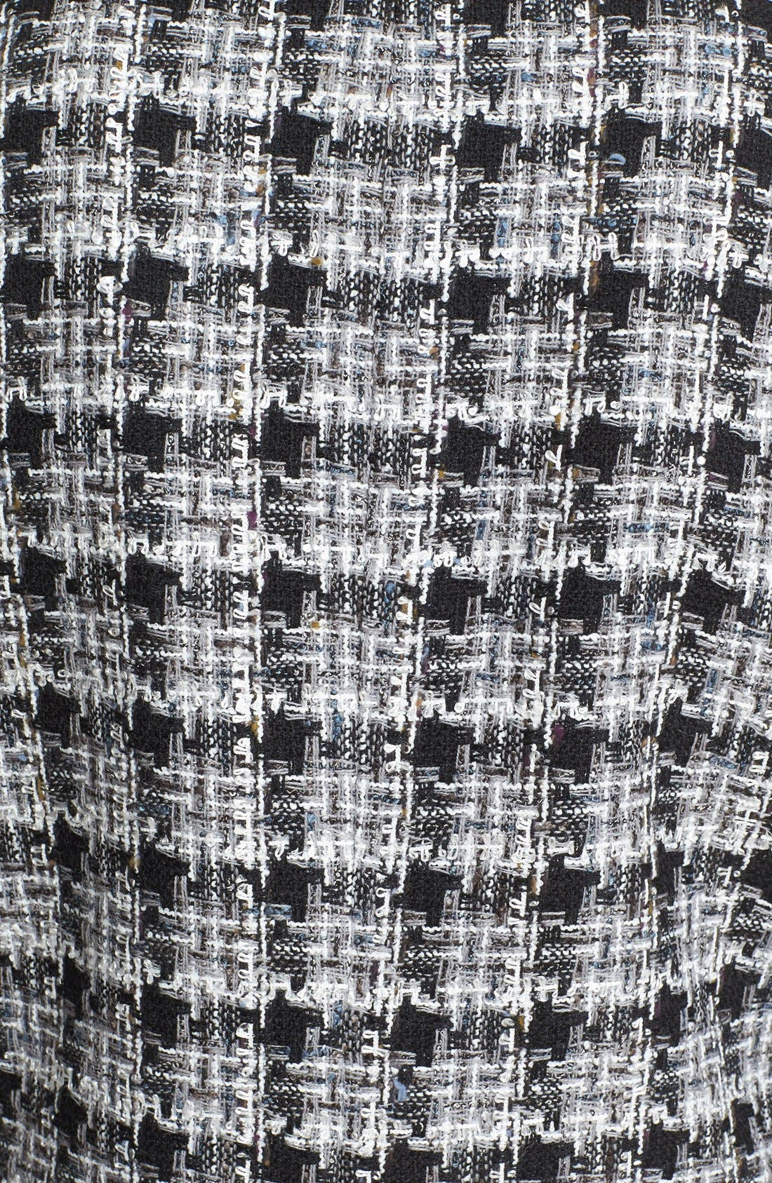 rosette bow tweed jacket,                             Alternate thumbnail 4, color,                             018