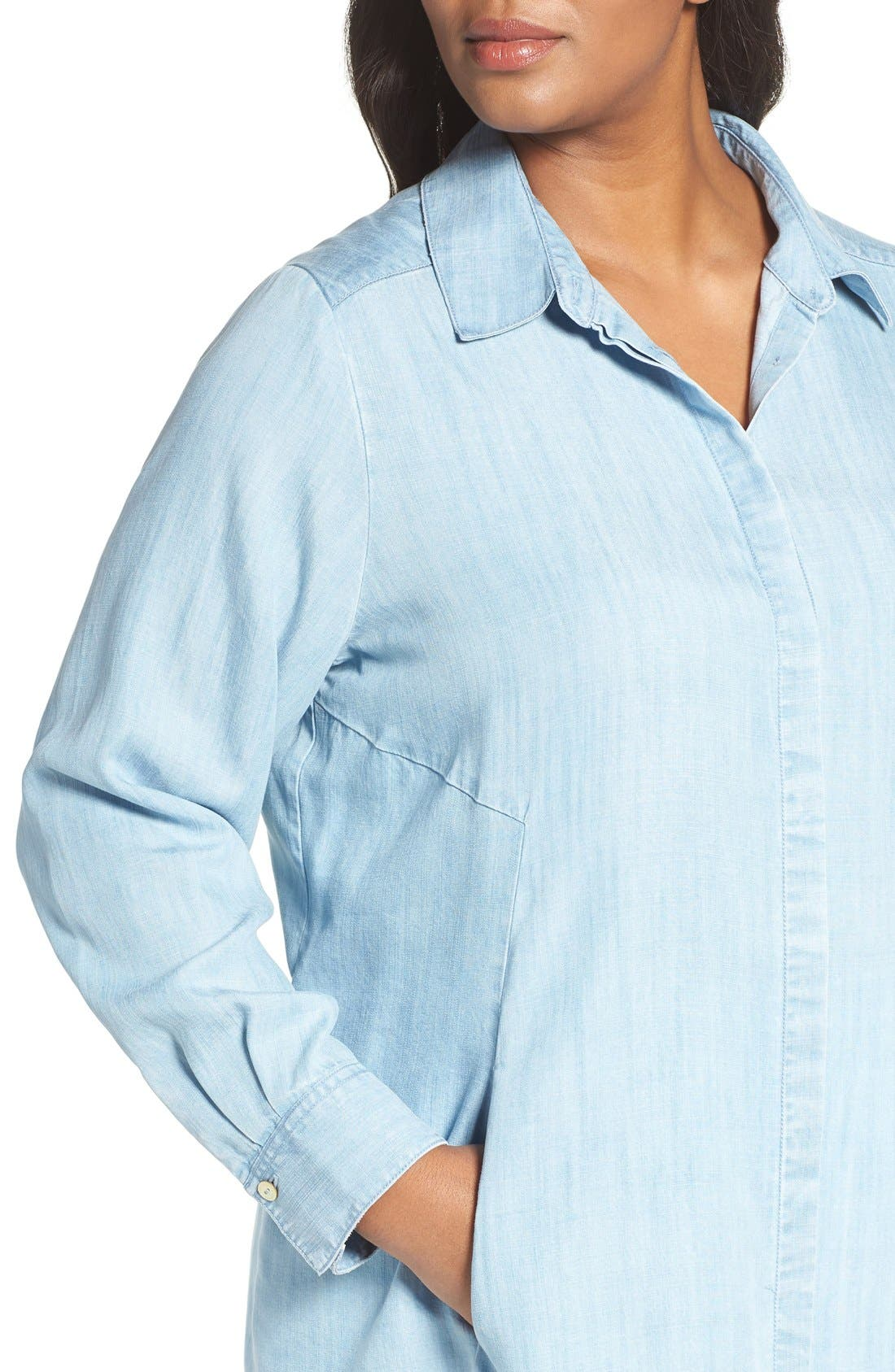 Chambray Tunic,                             Alternate thumbnail 21, color,