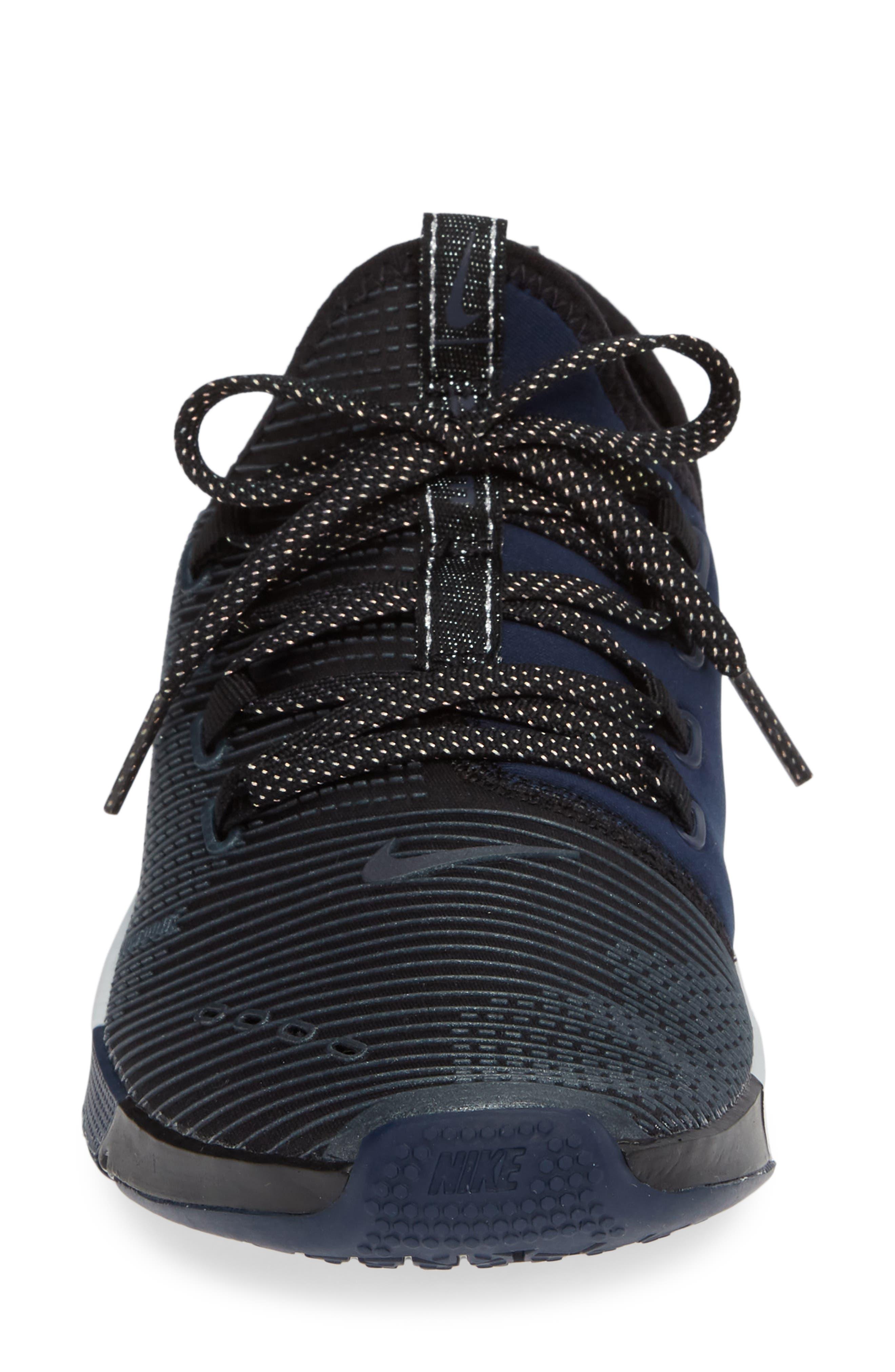 NIKE,                             Air Zoom Elevate Training Shoe,                             Alternate thumbnail 4, color,                             BLACK/ METALLIC NAVY- NAVY