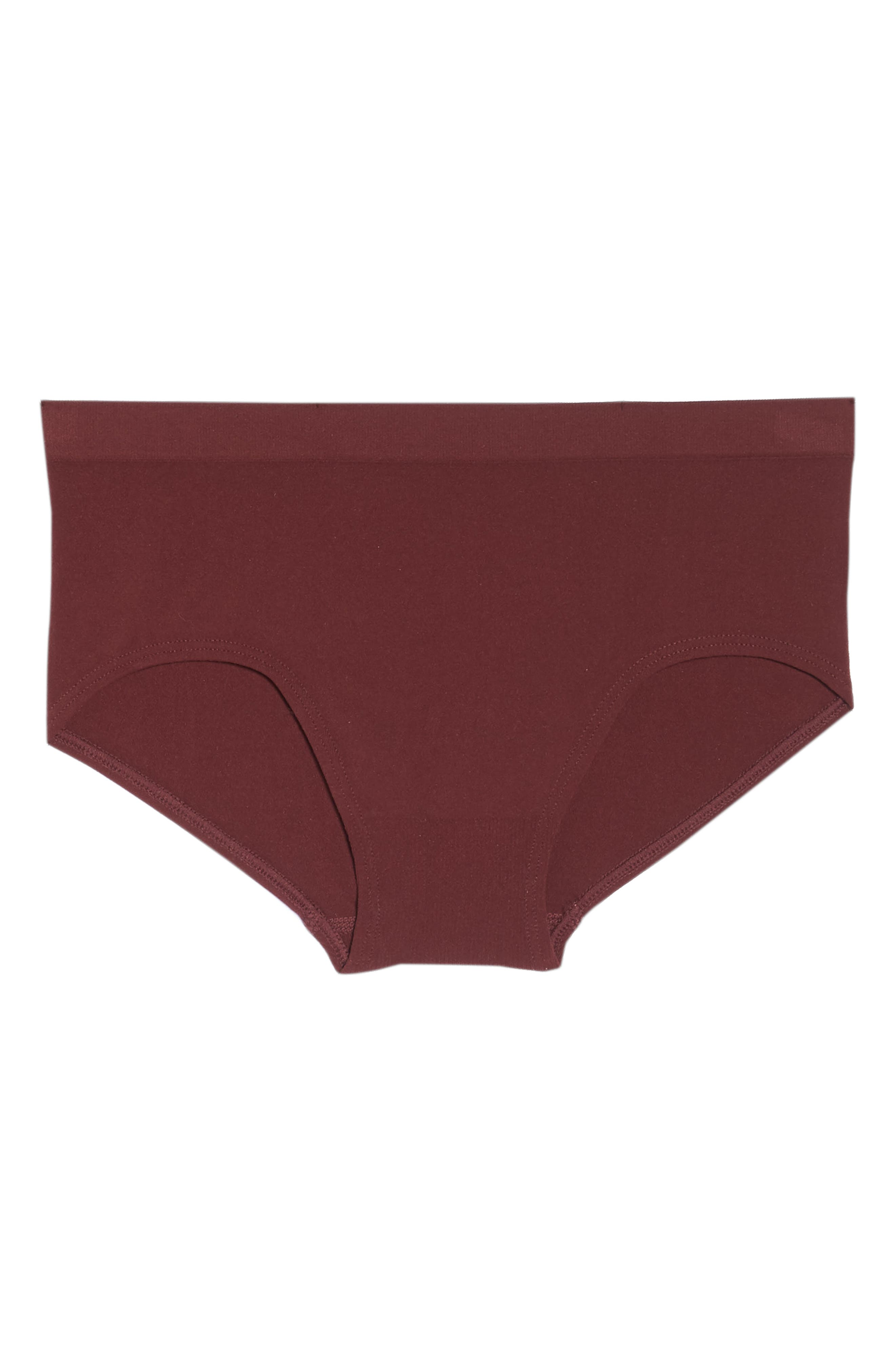 Seamless Hipster Briefs,                             Alternate thumbnail 6, color,                             RED TANNIN