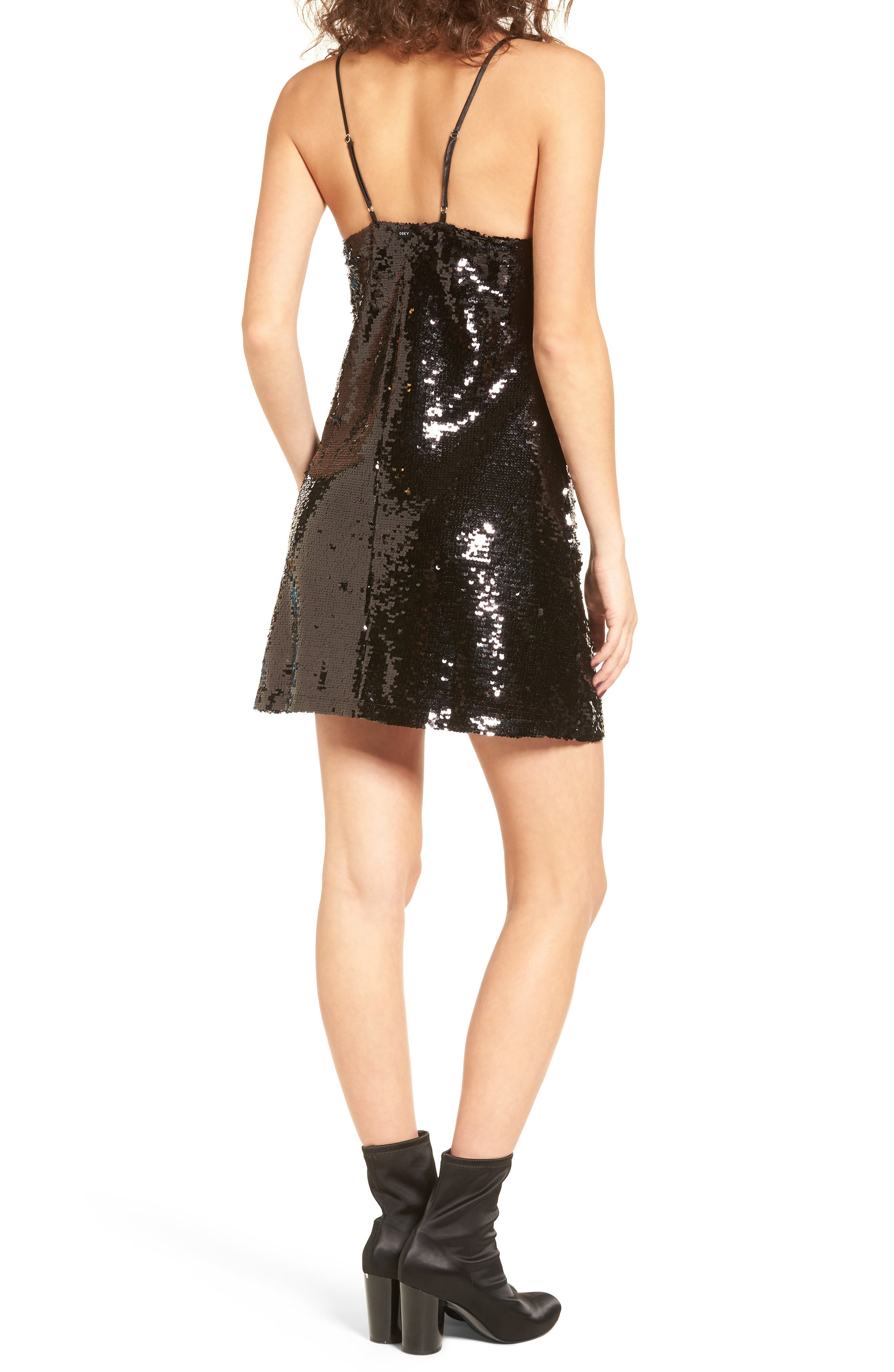 Bigby Sequin Slipdress,                             Alternate thumbnail 2, color,                             001