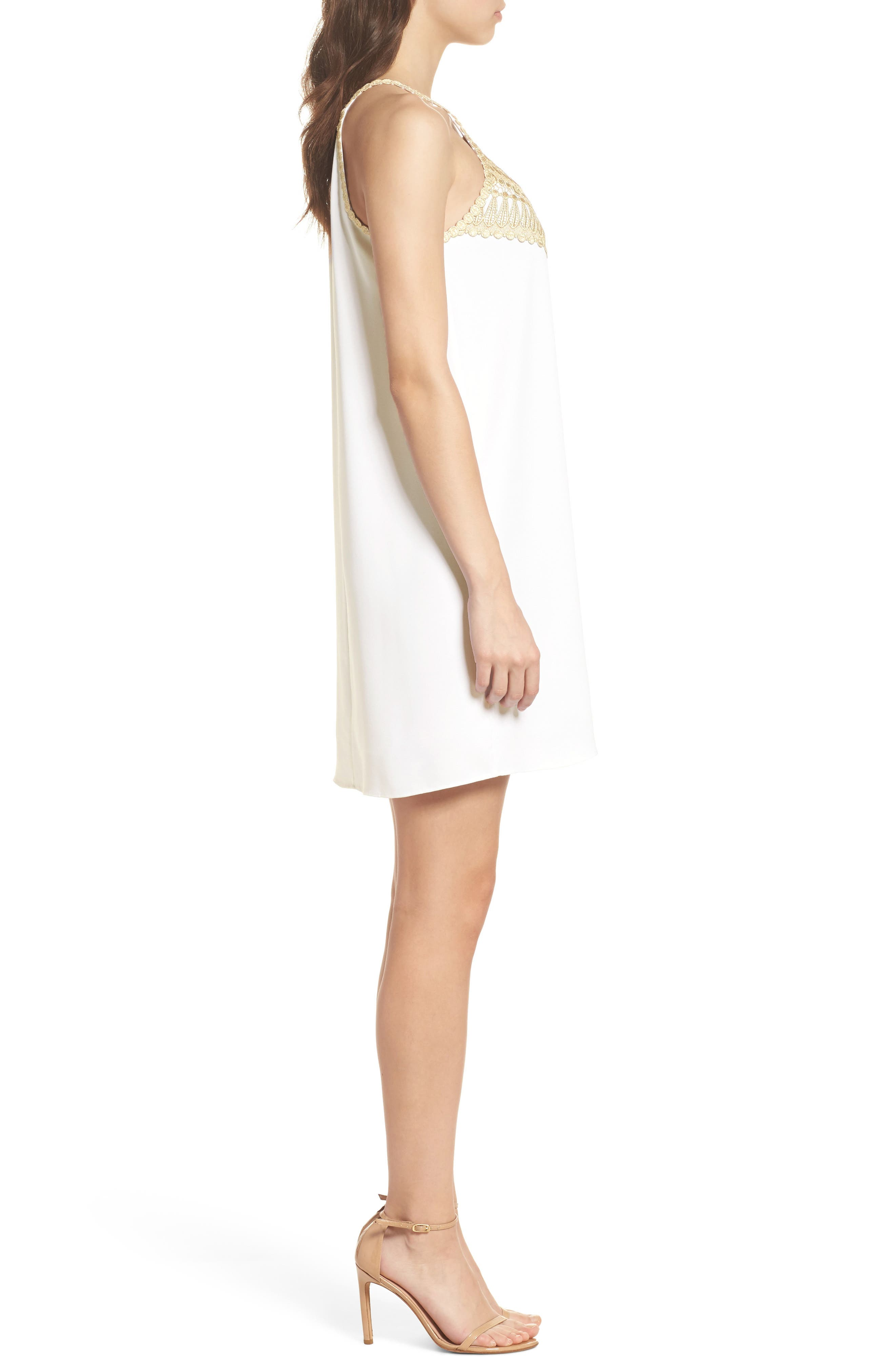 LILLY PULITZER<SUP>®</SUP>,                             Pearl Shift Dress,                             Alternate thumbnail 3, color,                             100