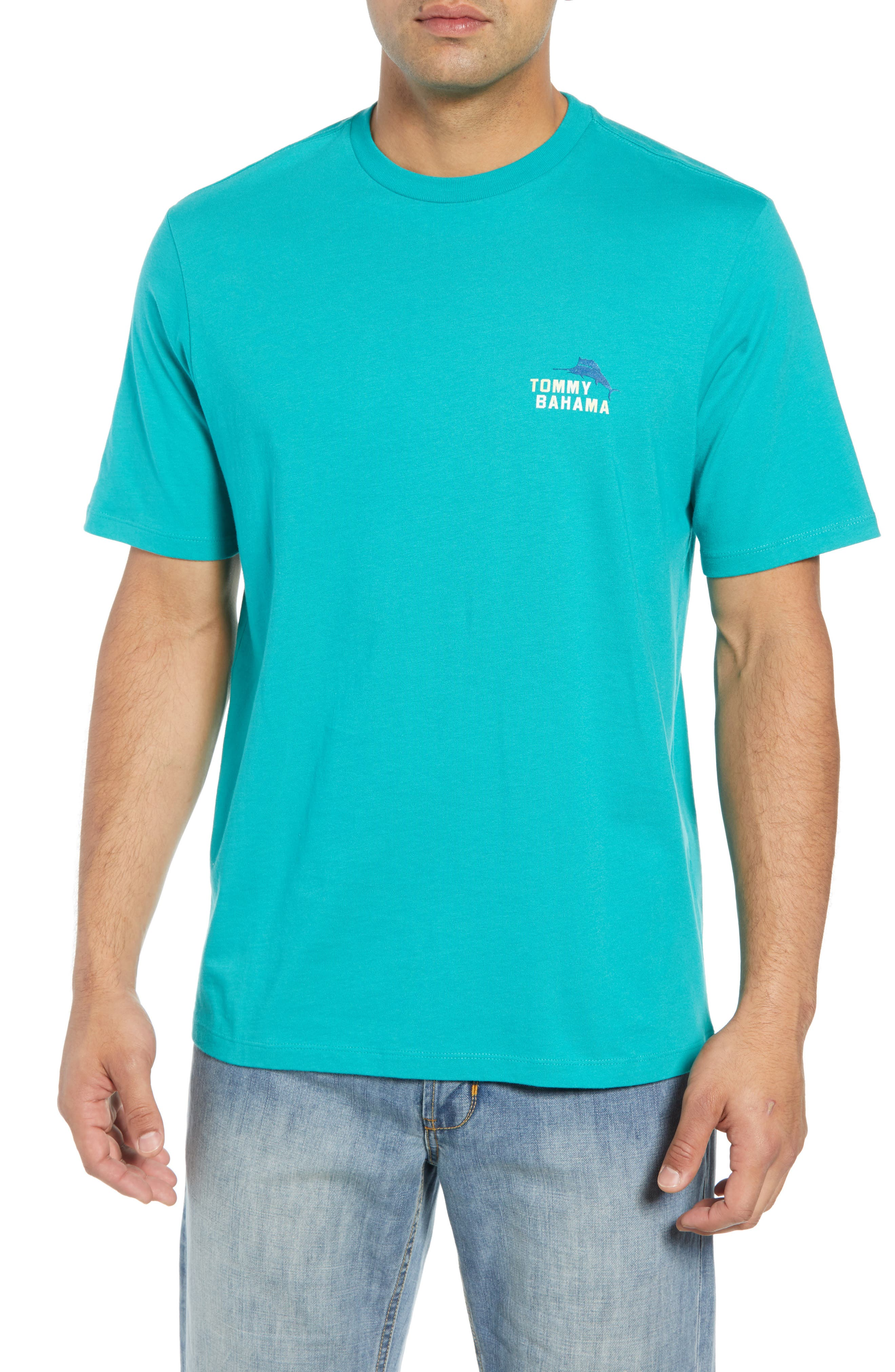Between the Uprights Graphic T-Shirt,                         Main,                         color, GULF SHORE
