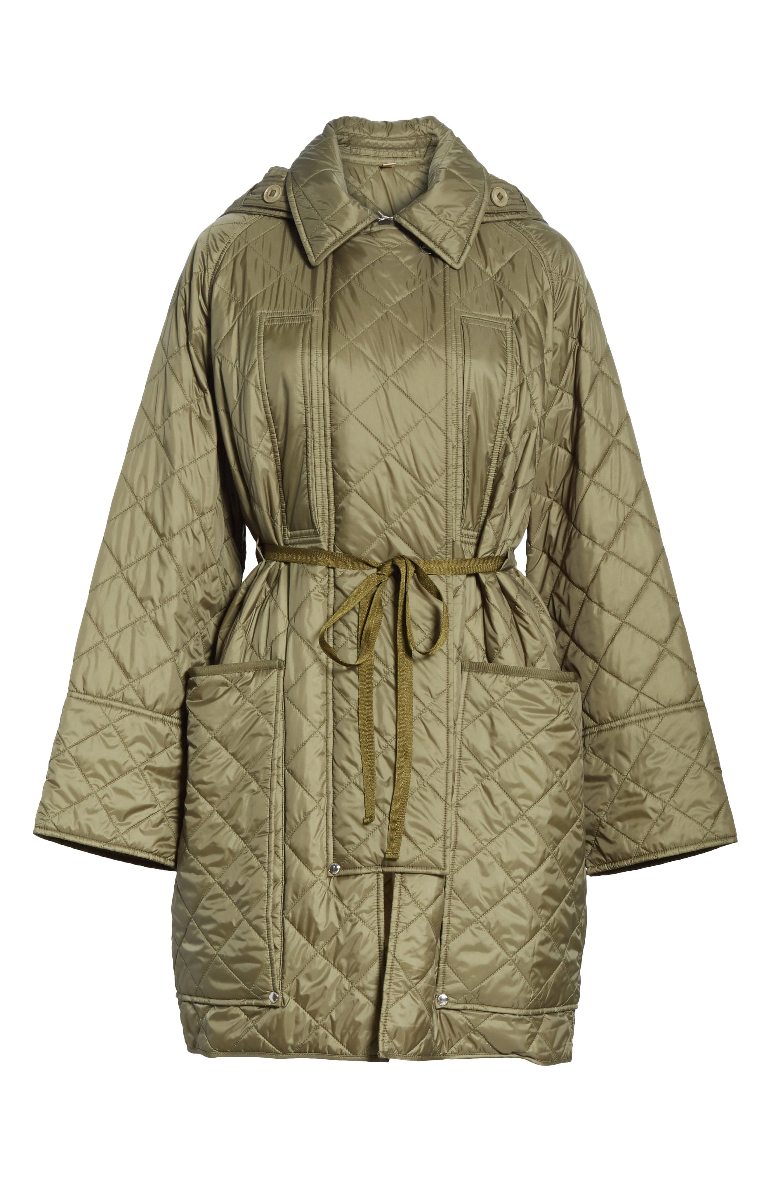 Coleraine Quilted Drawstring Jacket,                             Alternate thumbnail 7, color,                             CADET GREEN