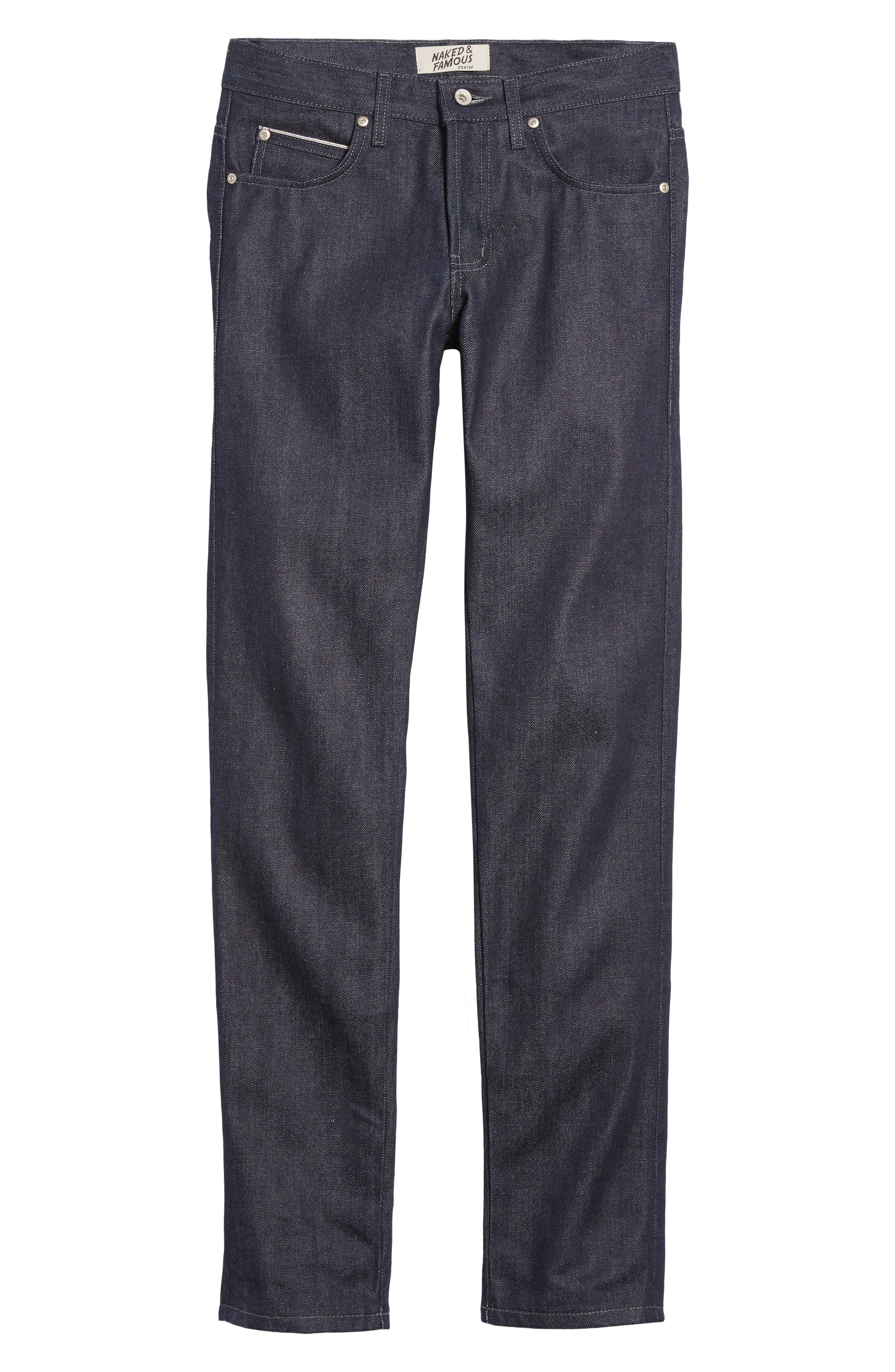 Naked & Famous Super Skinny Guy Skinny Fit Jeans,                             Alternate thumbnail 6, color,                             INDIGO