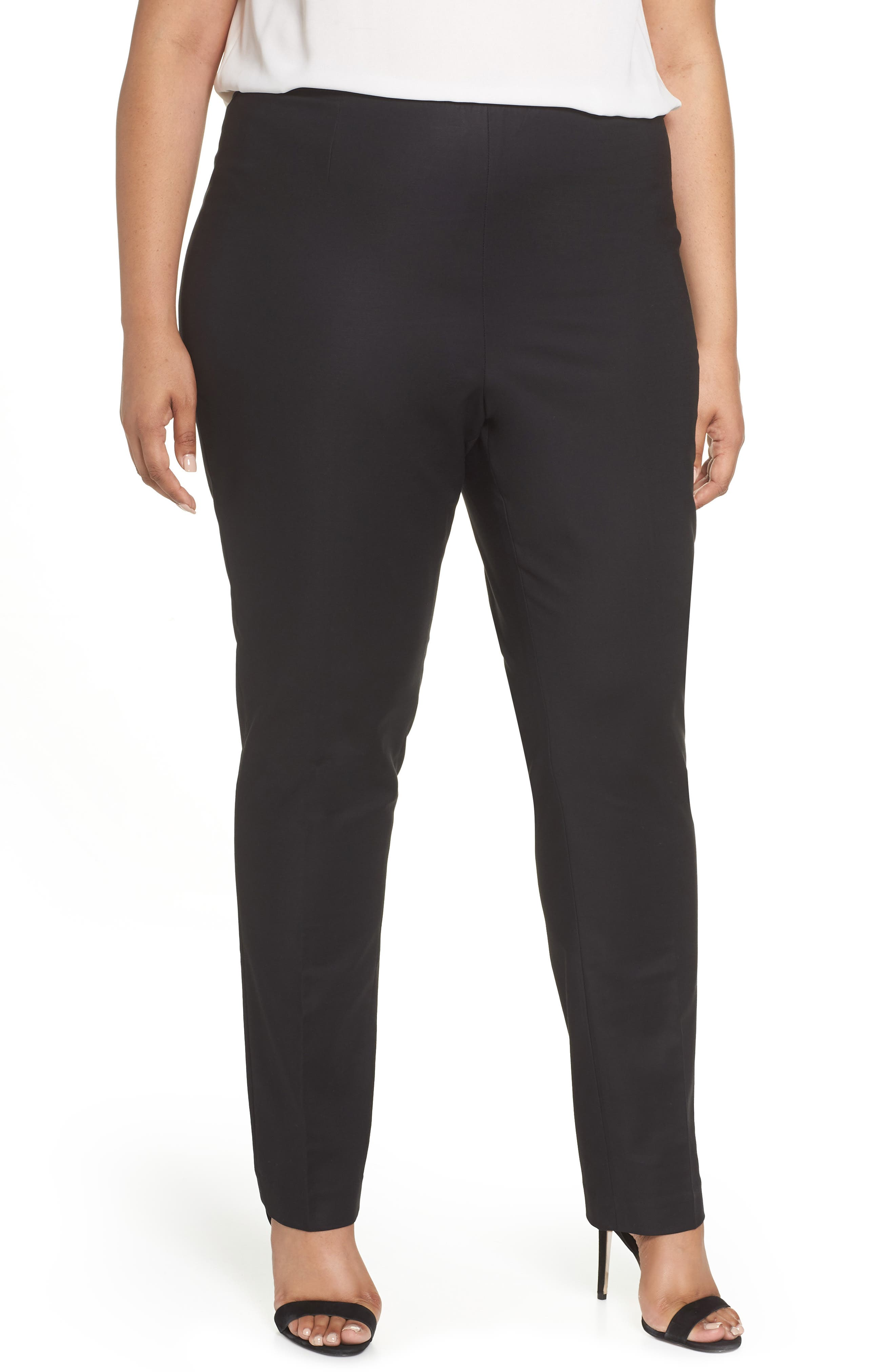 'Perfect' Side Zip Pants,                             Main thumbnail 1, color,                             BLACK ONYX
