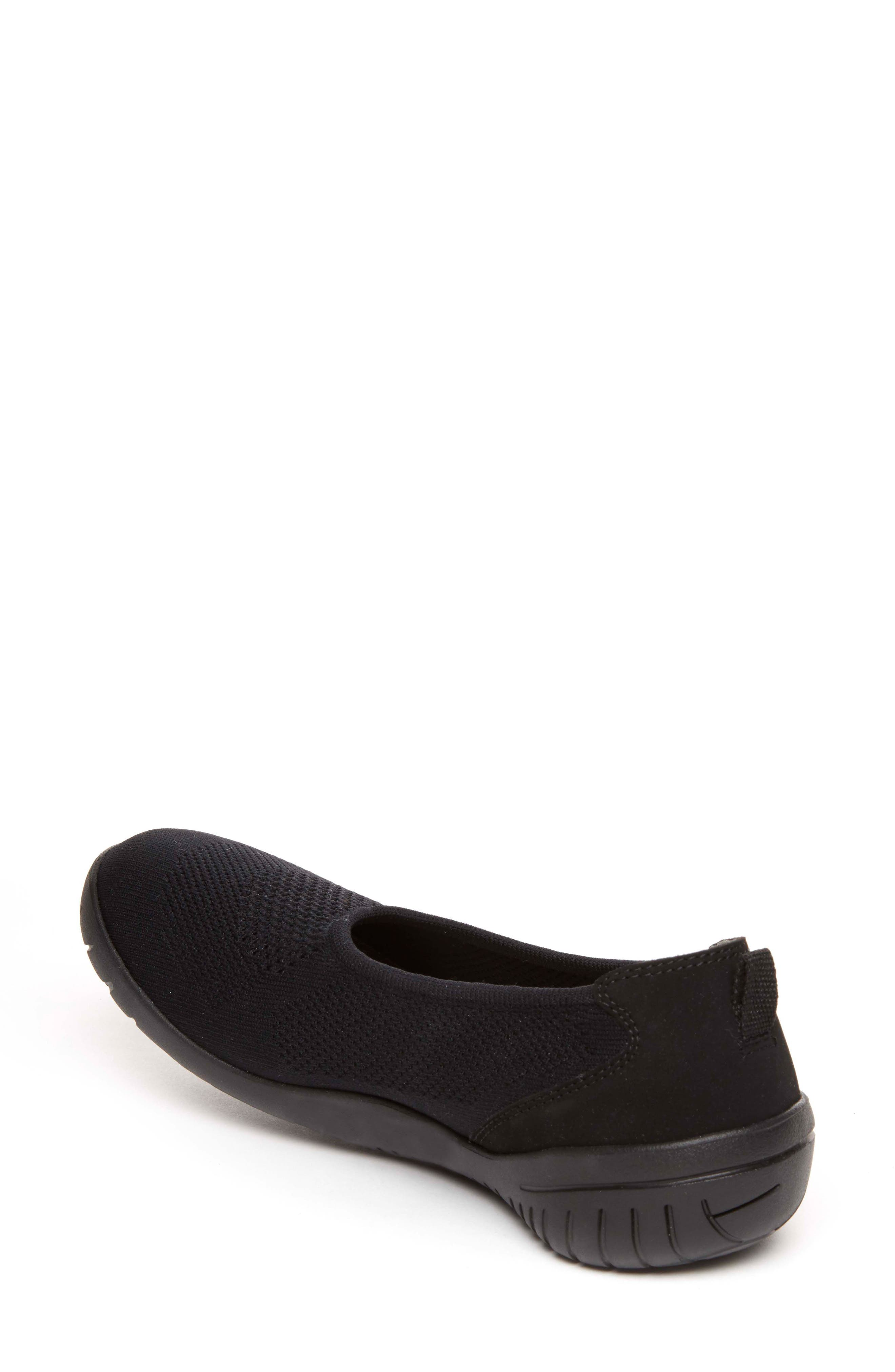 Raelyn Knit Ballet Sneaker,                             Alternate thumbnail 2, color,                             BLACK FABRIC
