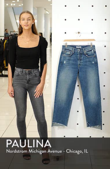 Helena Rigid High Waist Straight Jeans, sales video thumbnail