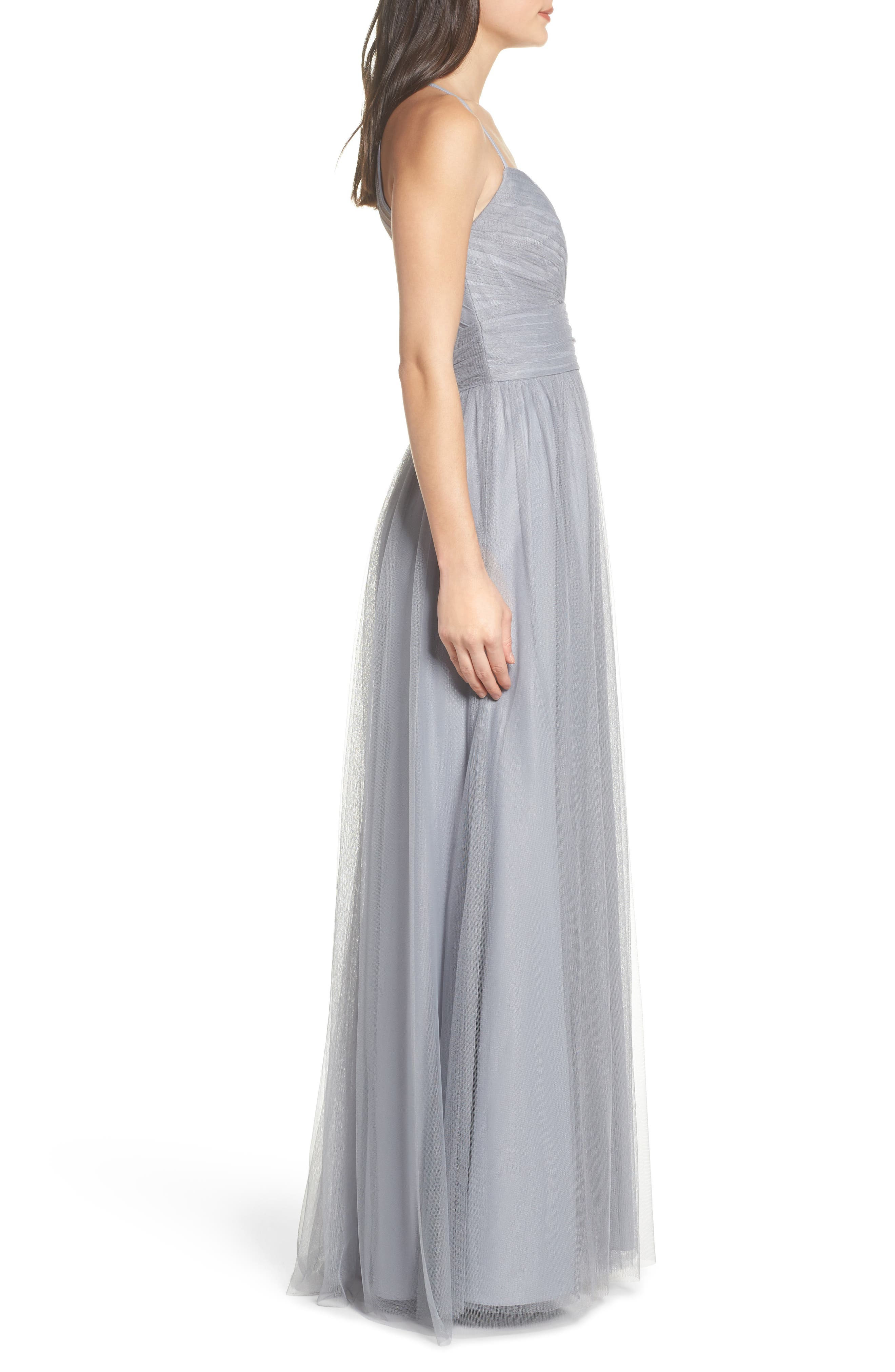 English Net Gown,                             Alternate thumbnail 3, color,                             PEWTER