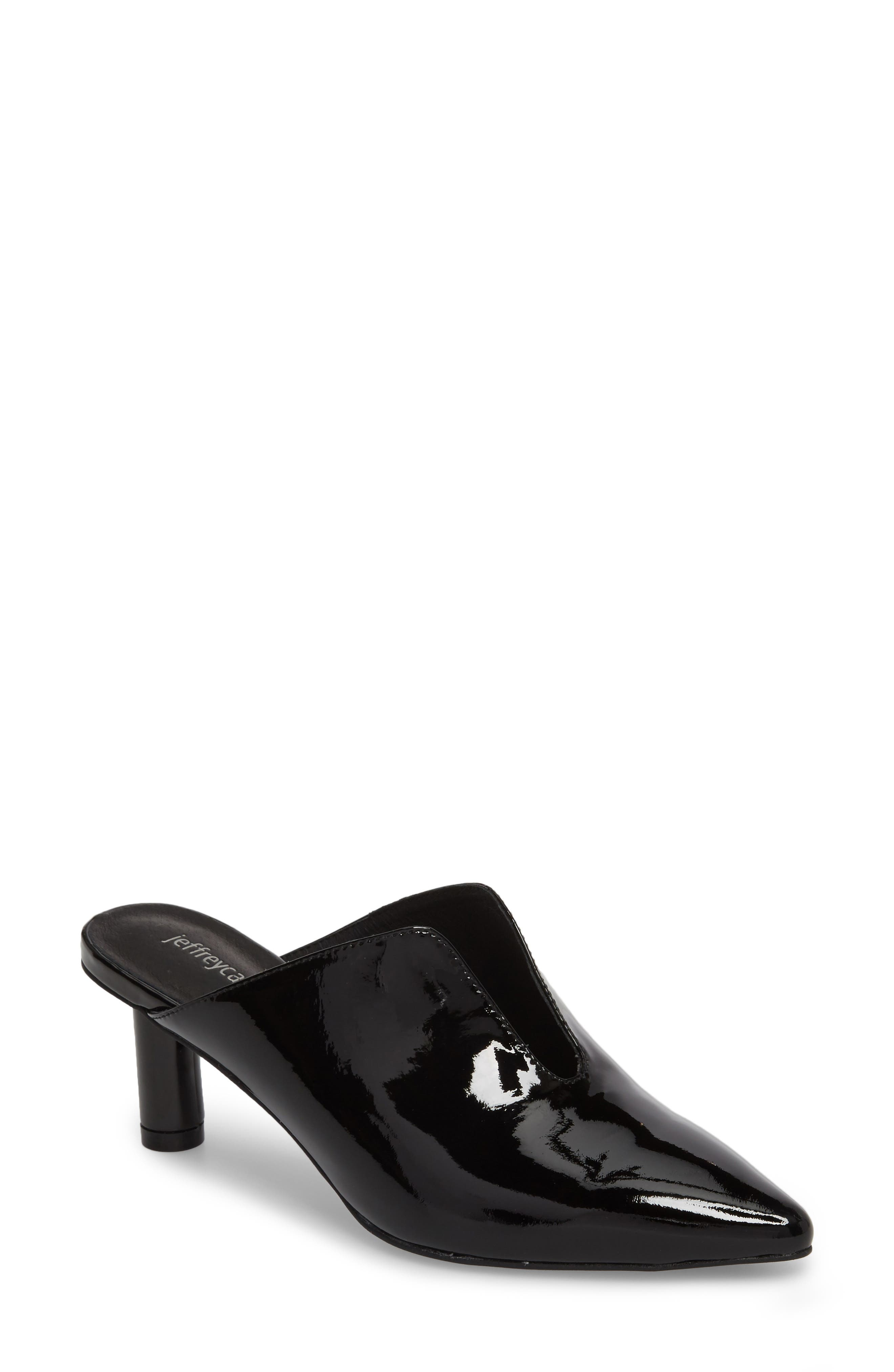 Saltaire Pointy Toe Mule,                             Main thumbnail 1, color,                             BLACK PATENT LEATHER
