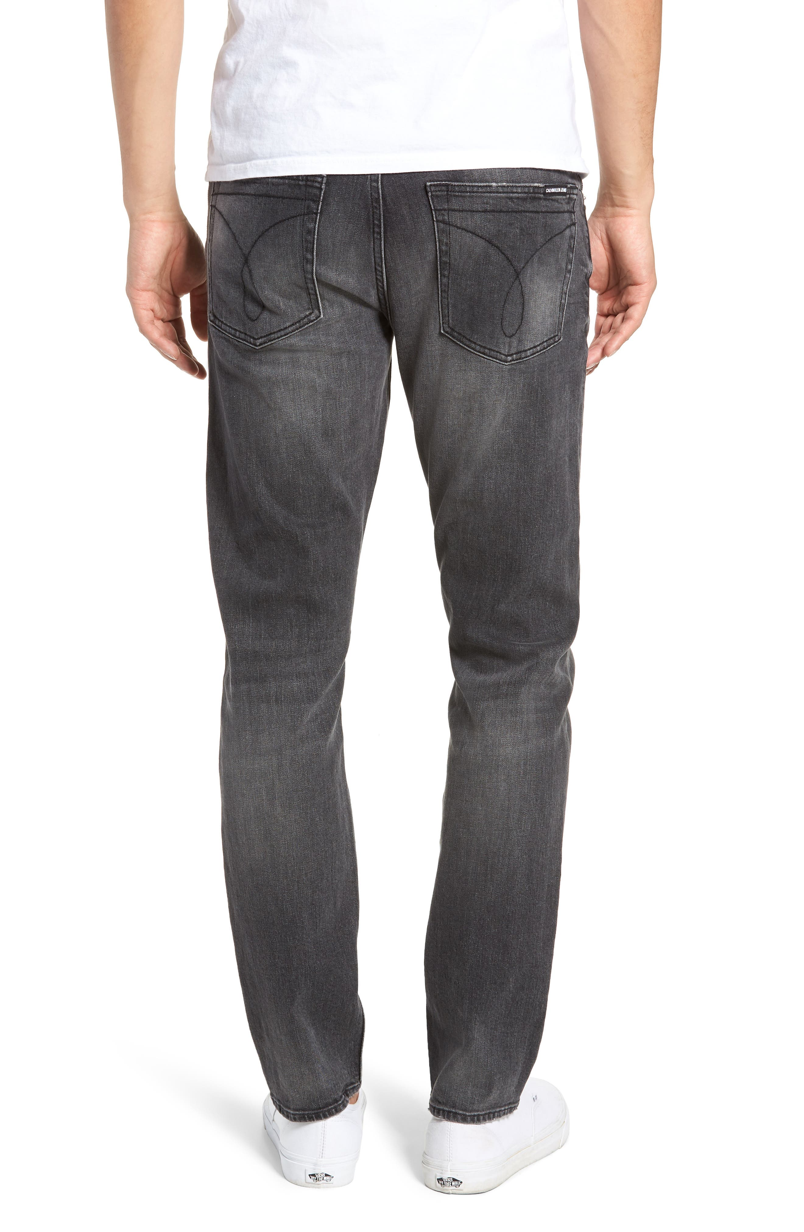 Slim Fit Jeans,                             Alternate thumbnail 2, color,                             BLACK