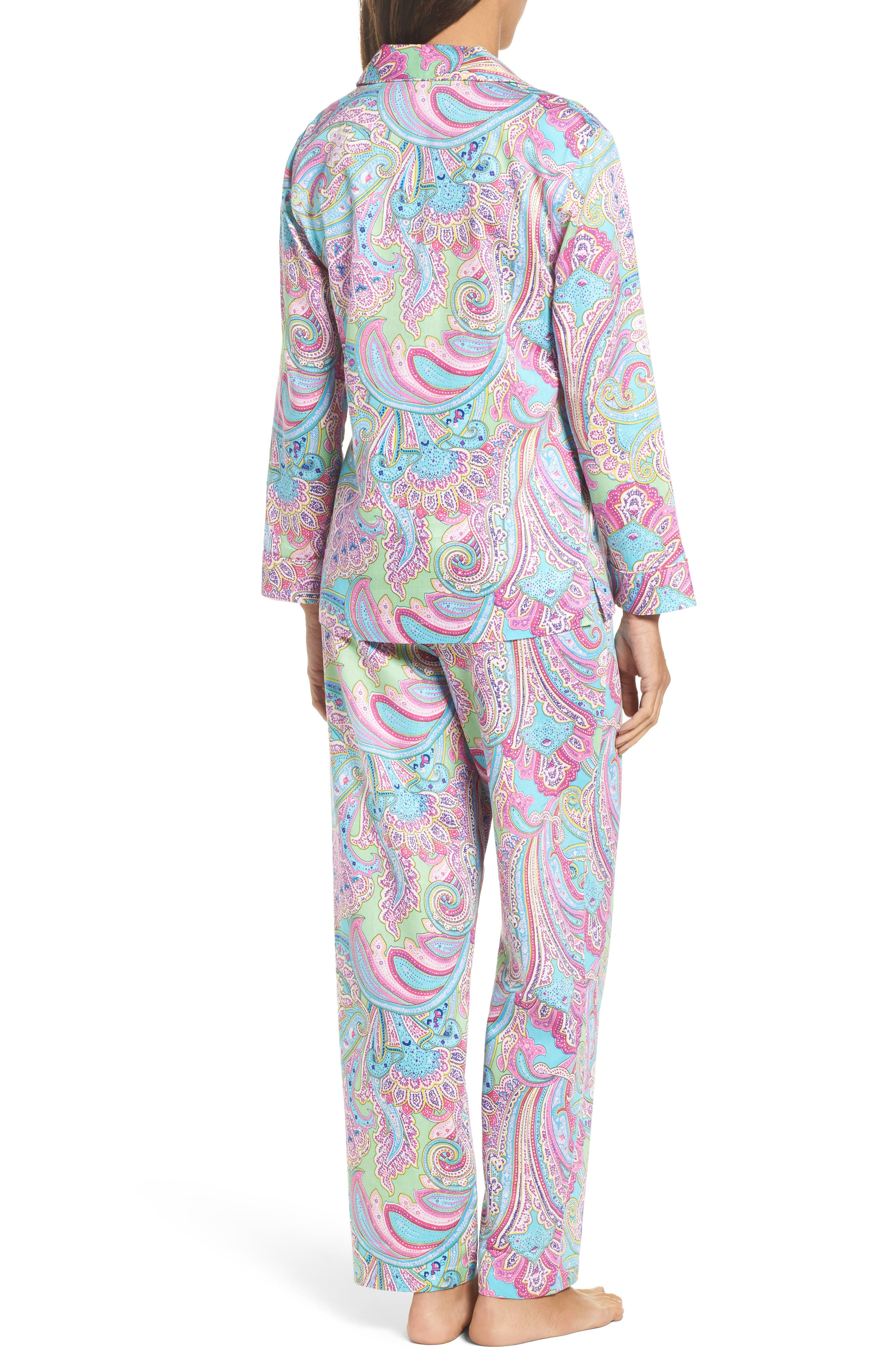 Notch Collar Pajamas,                             Alternate thumbnail 3, color,