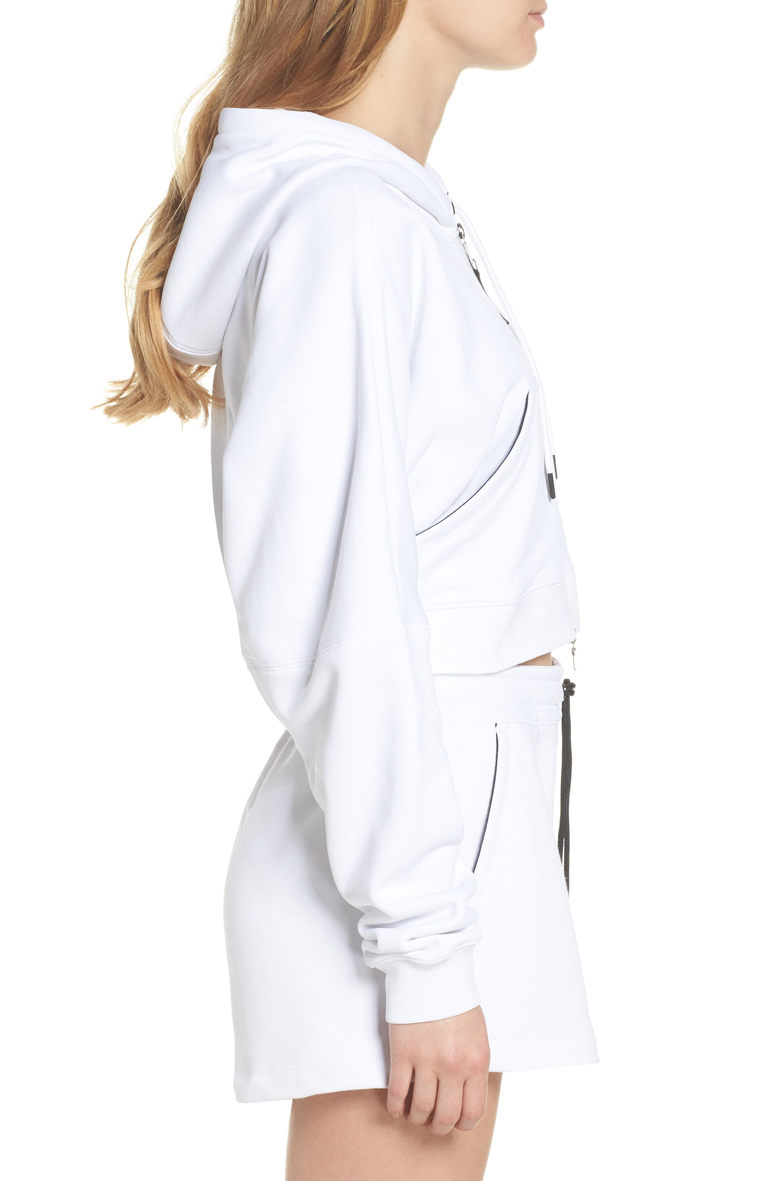 NikeLab Collection Terry Zip Hoodie,                             Alternate thumbnail 3, color,                             100