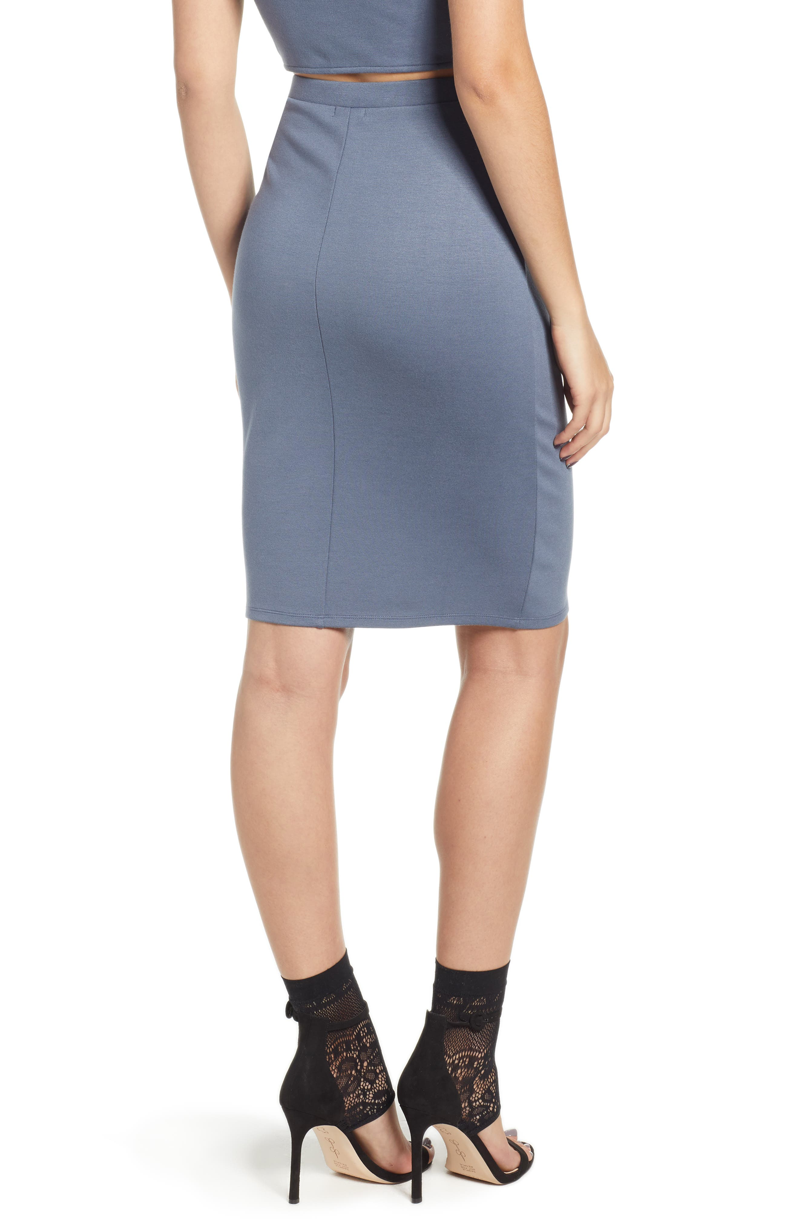 Pencil Skirt,                             Alternate thumbnail 2, color,                             GREY GRISAILLE