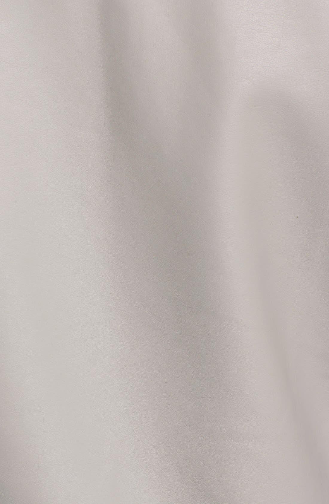 'Kadence' Faux Leather Asymmetrical Moto Jacket,                             Alternate thumbnail 3, color,